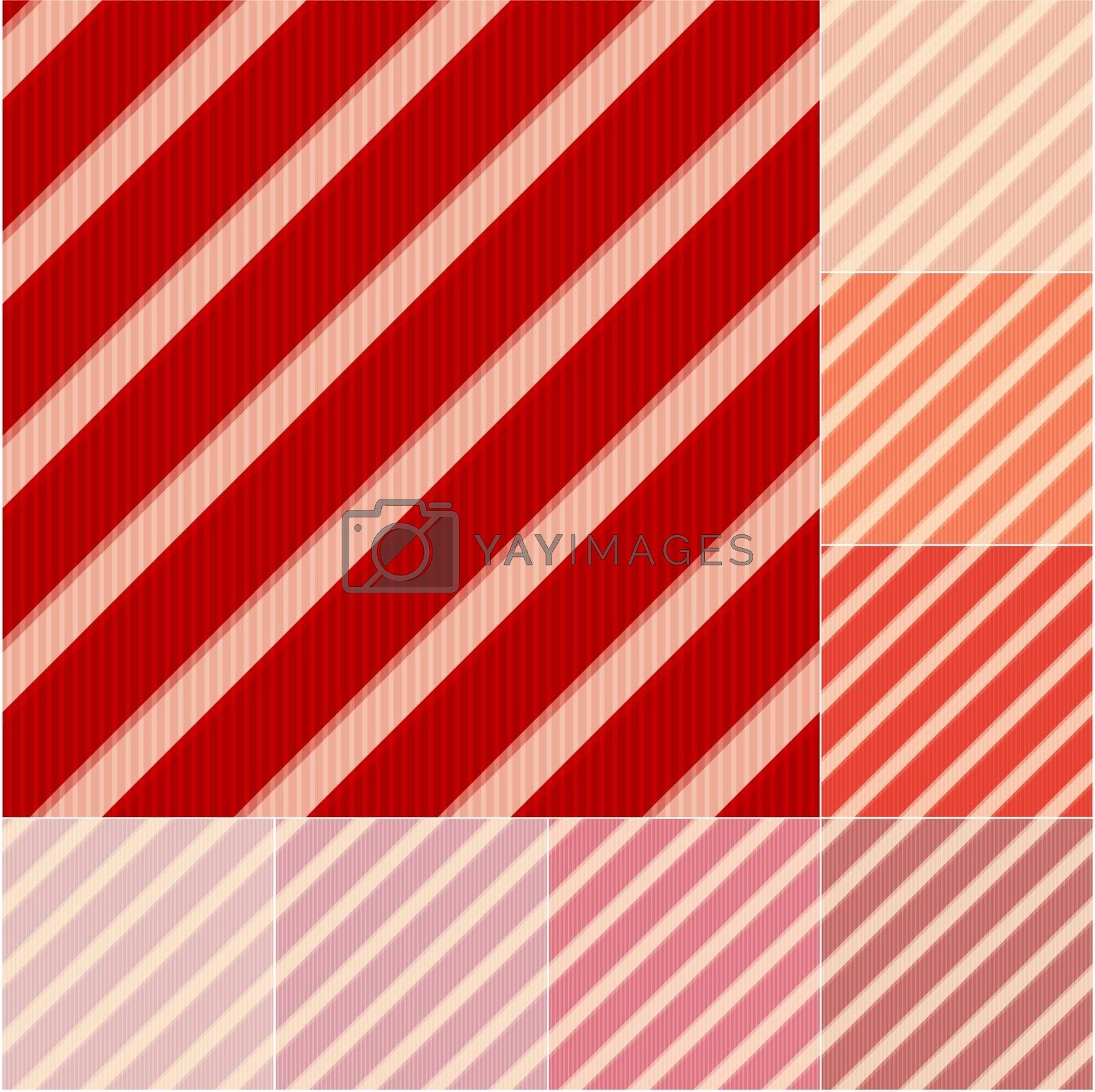seamless red and orange stripes background set by pauljune