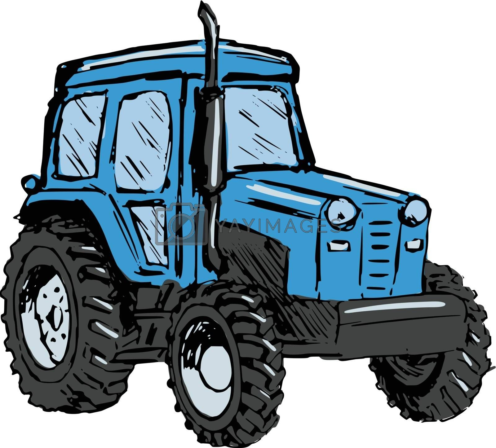 Royalty free image of tractor by Perysty