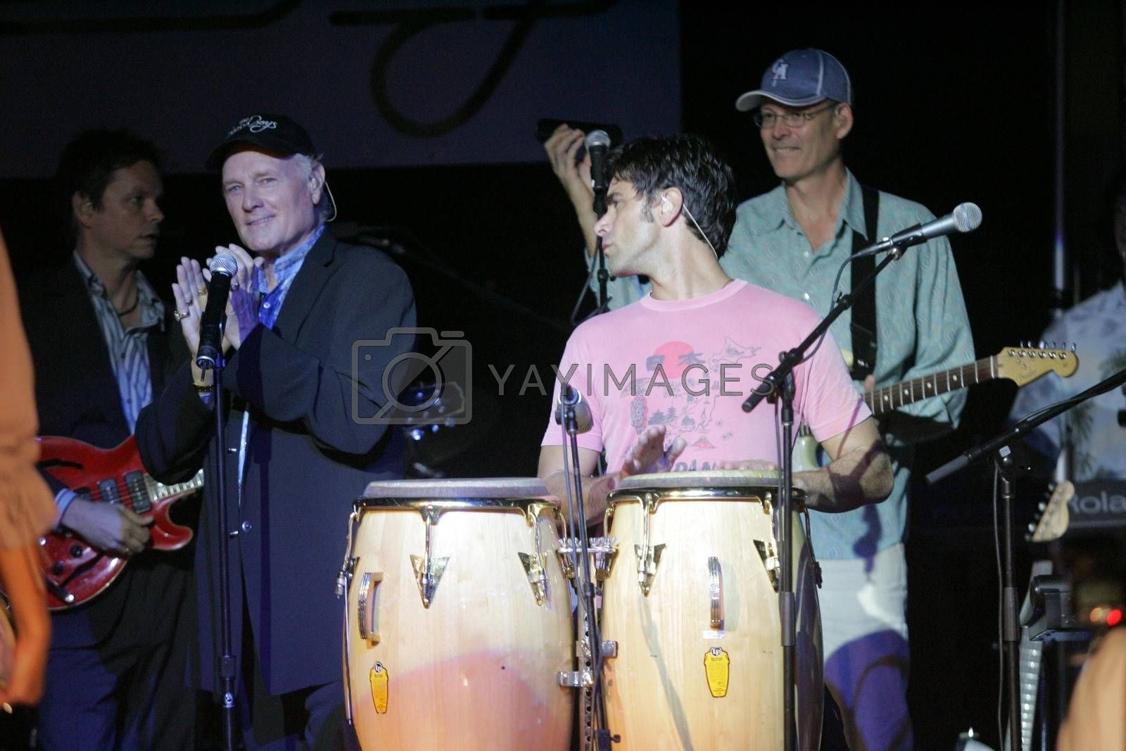 "Mike Love and John Stamos at ""Passion for Fashion"". Cabana Club, Hollywood, CA. 10-10-05"