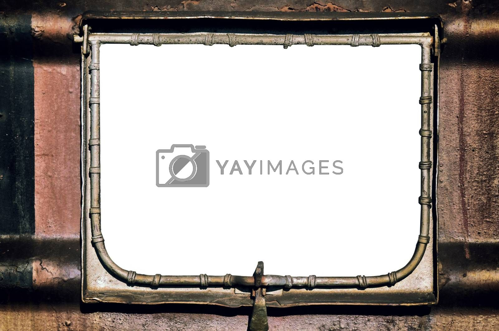Metal and rusty billboard with blank space