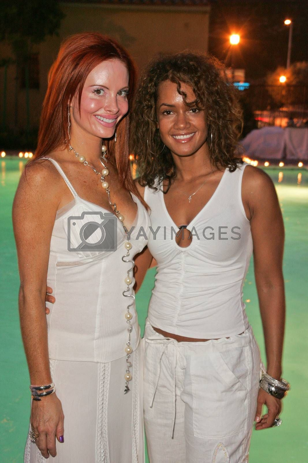 Phoebe Price and Tammy Townsend at the White Summer Pamper Party Hosted by G Report Magazine and H2O Skin Spa, Private Location, Porter Ranch, CA 07-31-05