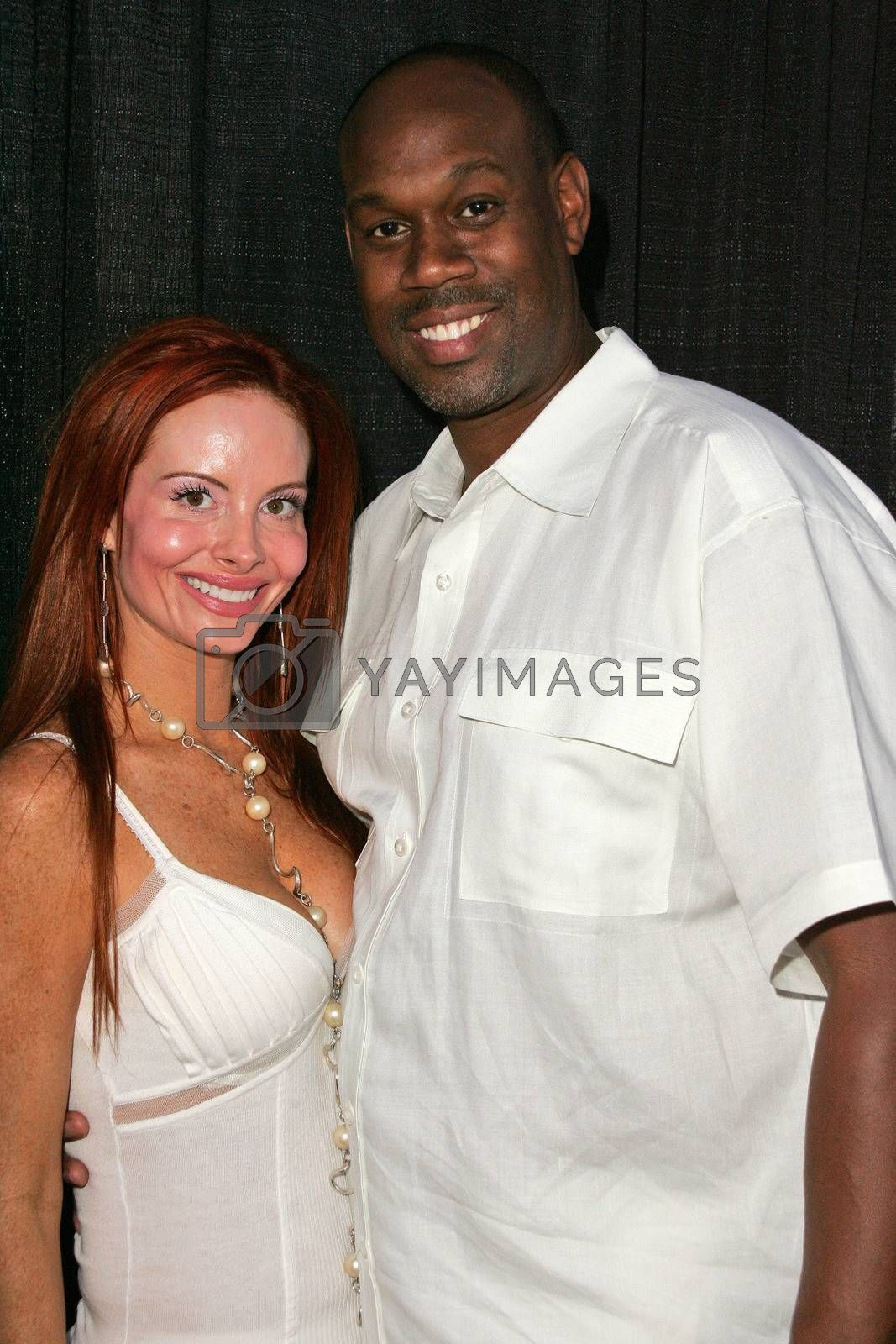 Phoebe Price and Gary L. Mack at the White Summer Pamper Party Hosted by G Report Magazine and H2O Skin Spa, Private Location, Porter Ranch, CA 07-31-05