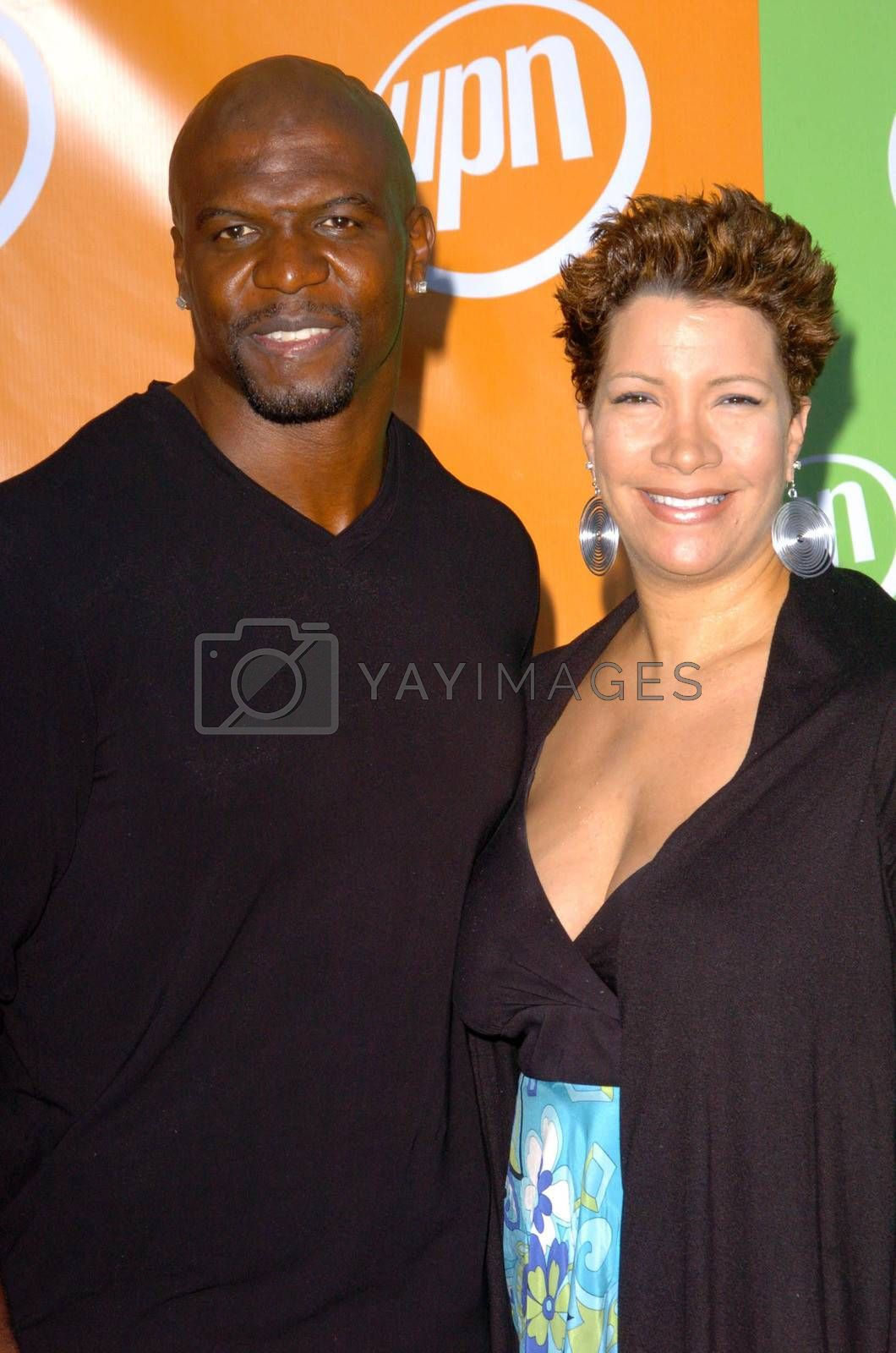 Terry Crews and wife Rebecca At the UPN Summer TCA Party, Paramount Studios, Hollywood, CA 07-21-05
