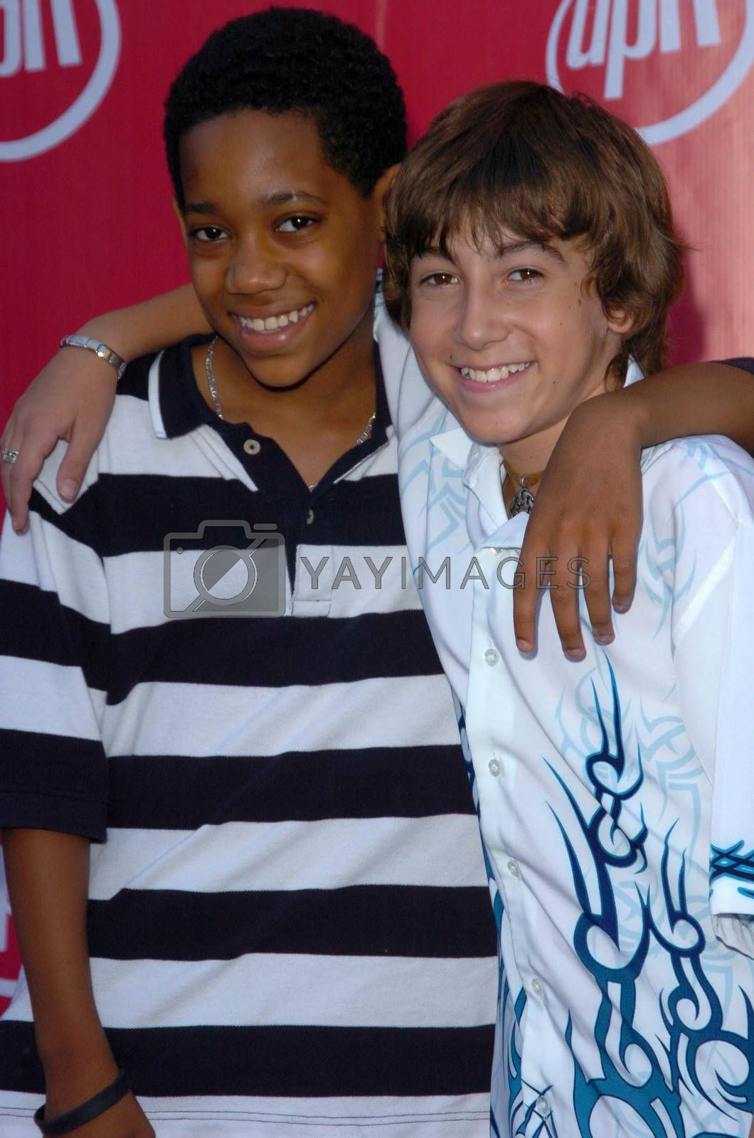 Tyler Williams and Vincent Martella At the UPN Summer TCA Party, Paramount Studios, Hollywood, CA 07-21-05