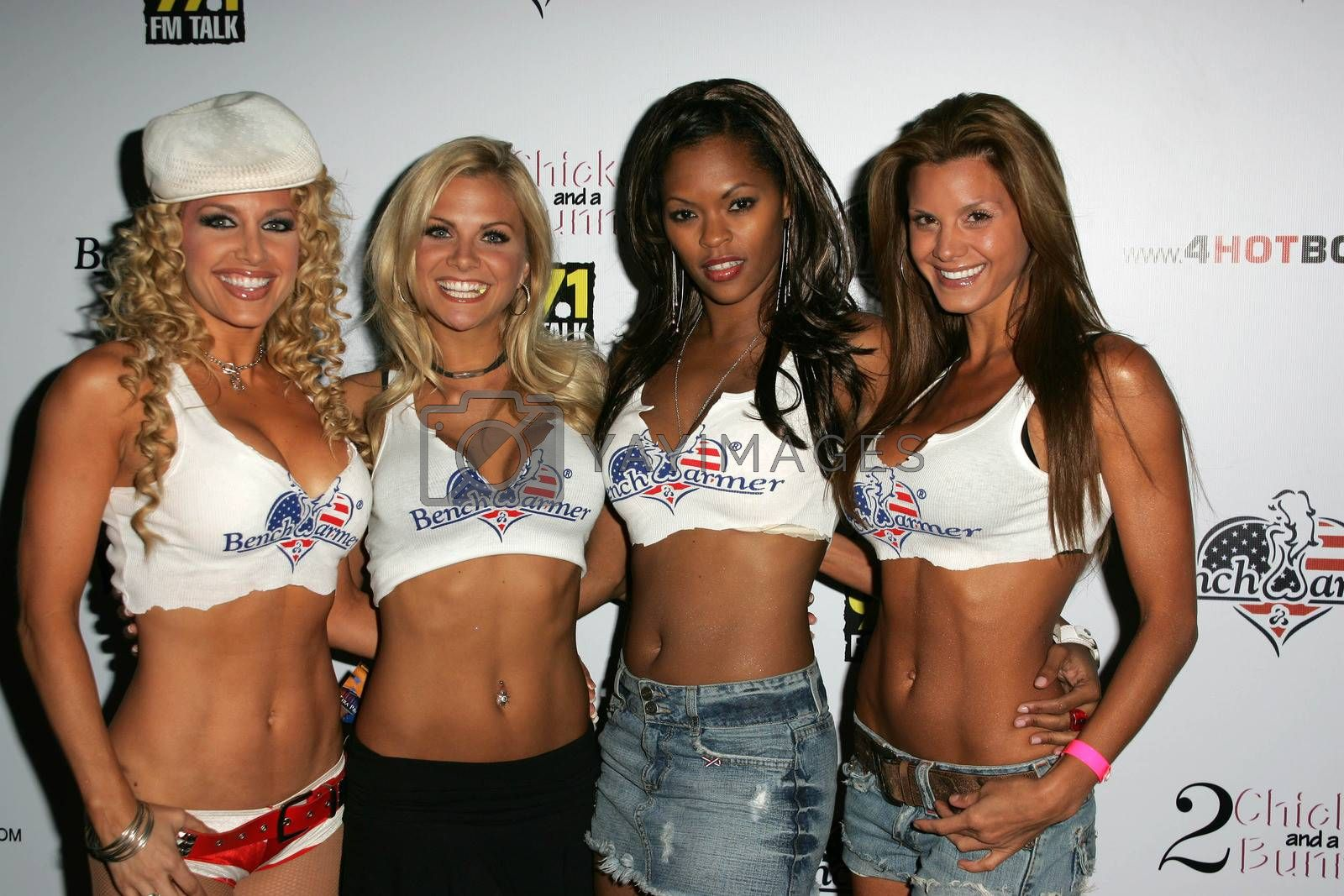 Lisa Ligon, Mary Riley, Tira Probost and Heather Schirra at Bench Warmer's 2nd Annual 4th of July Celebration, The Day After, Hollywood, CA 06-29-05