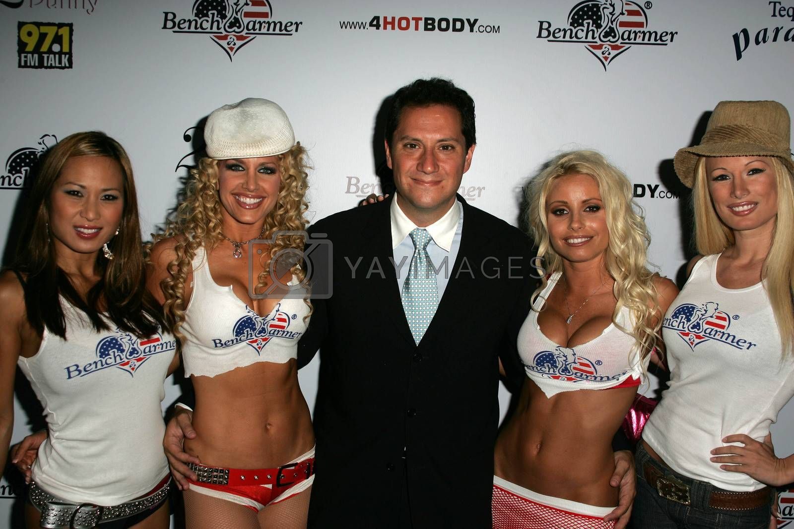 Brian Wallos and benchwarmer models at Bench Warmer's 2nd Annual 4th of July Celebration, The Day After, Hollywood, CA 06-29-05
