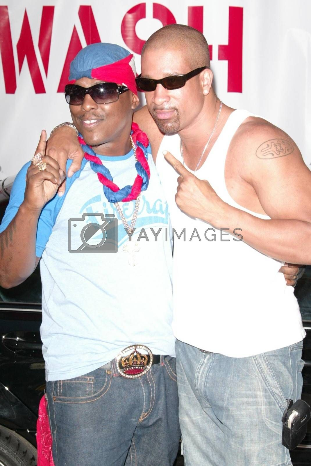 Won-G and Dorian Gregory at the Summer BBQ Tour 2005, Private Location, West Hollywood, CA 06-18-05