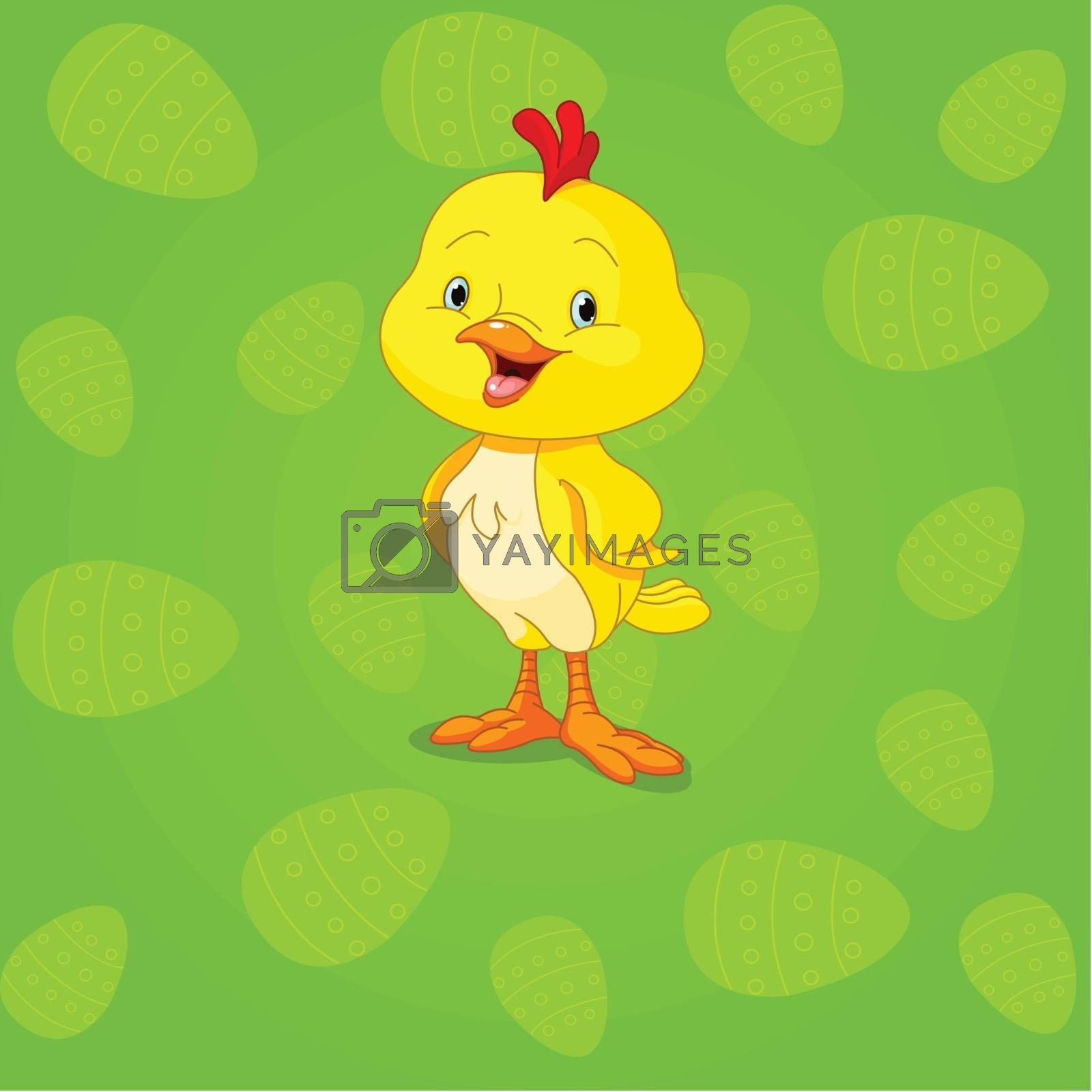 Easter cute little chick background