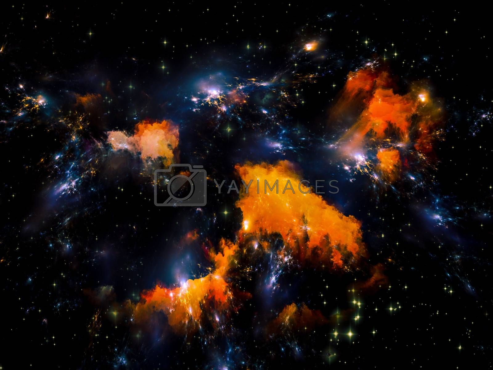 Universe Is Not Enough series. Artistic abstraction composed of fractal elements, lights and textures on the subject of fantasy, science, religion and design