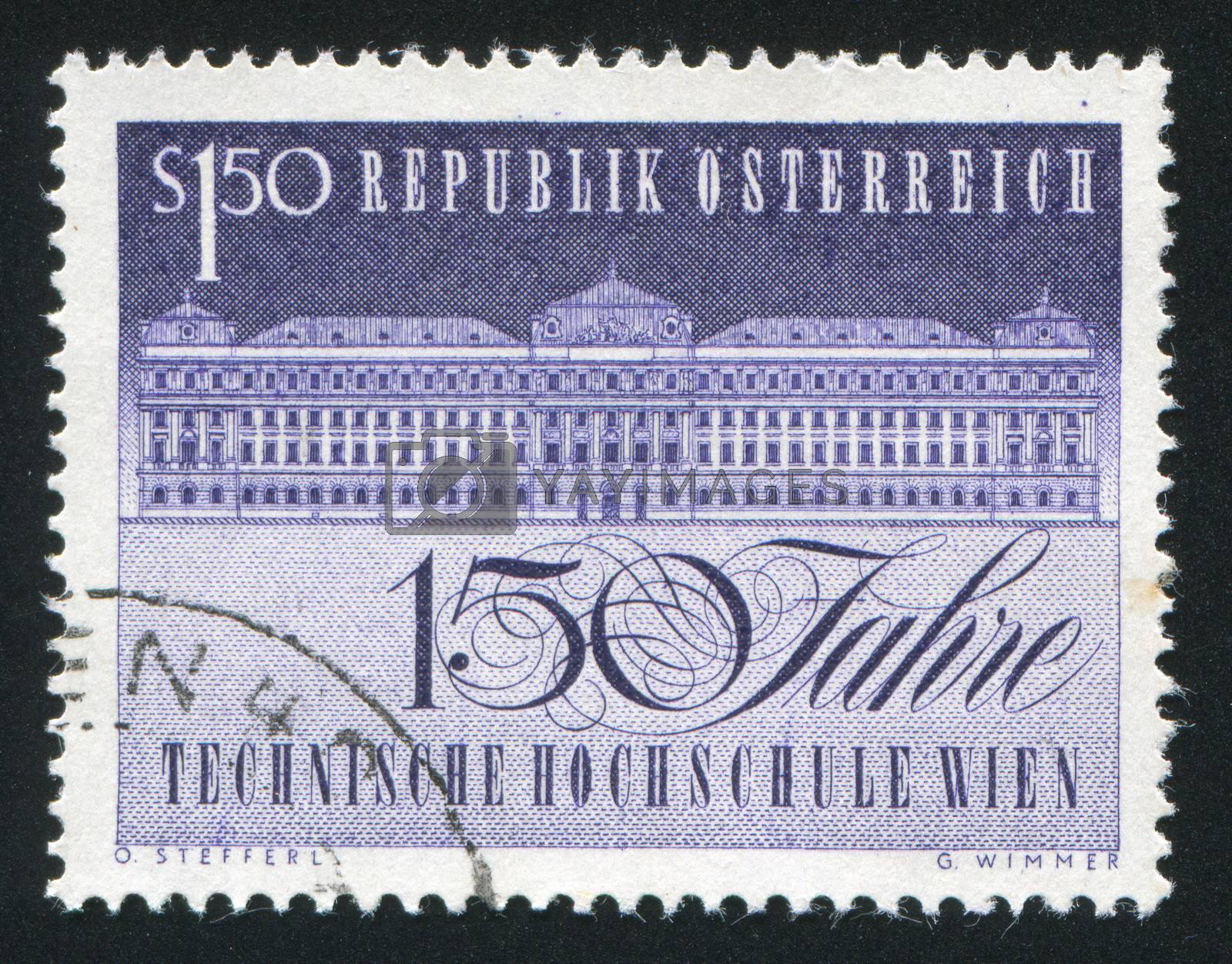 AUSTRIA - CIRCA 1965: stamp printed by Austria, shows University of Technology, circa 1965