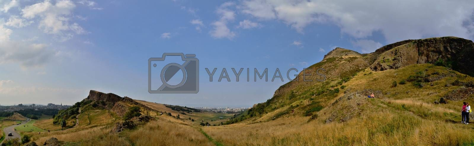 mountain landscape scotland panoramic view