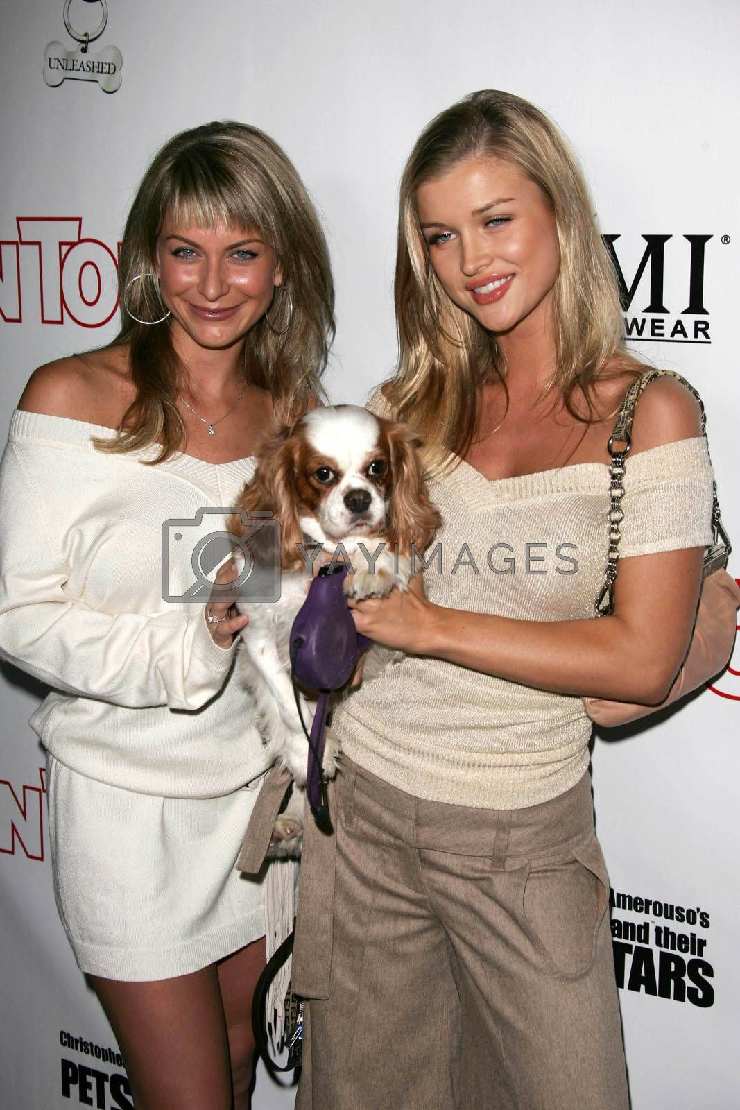 Joanna Krupa and friend at the In Touch Presents Pets And Their Stars Party, Cabana Club, Hollywood, CA 09-21-05
