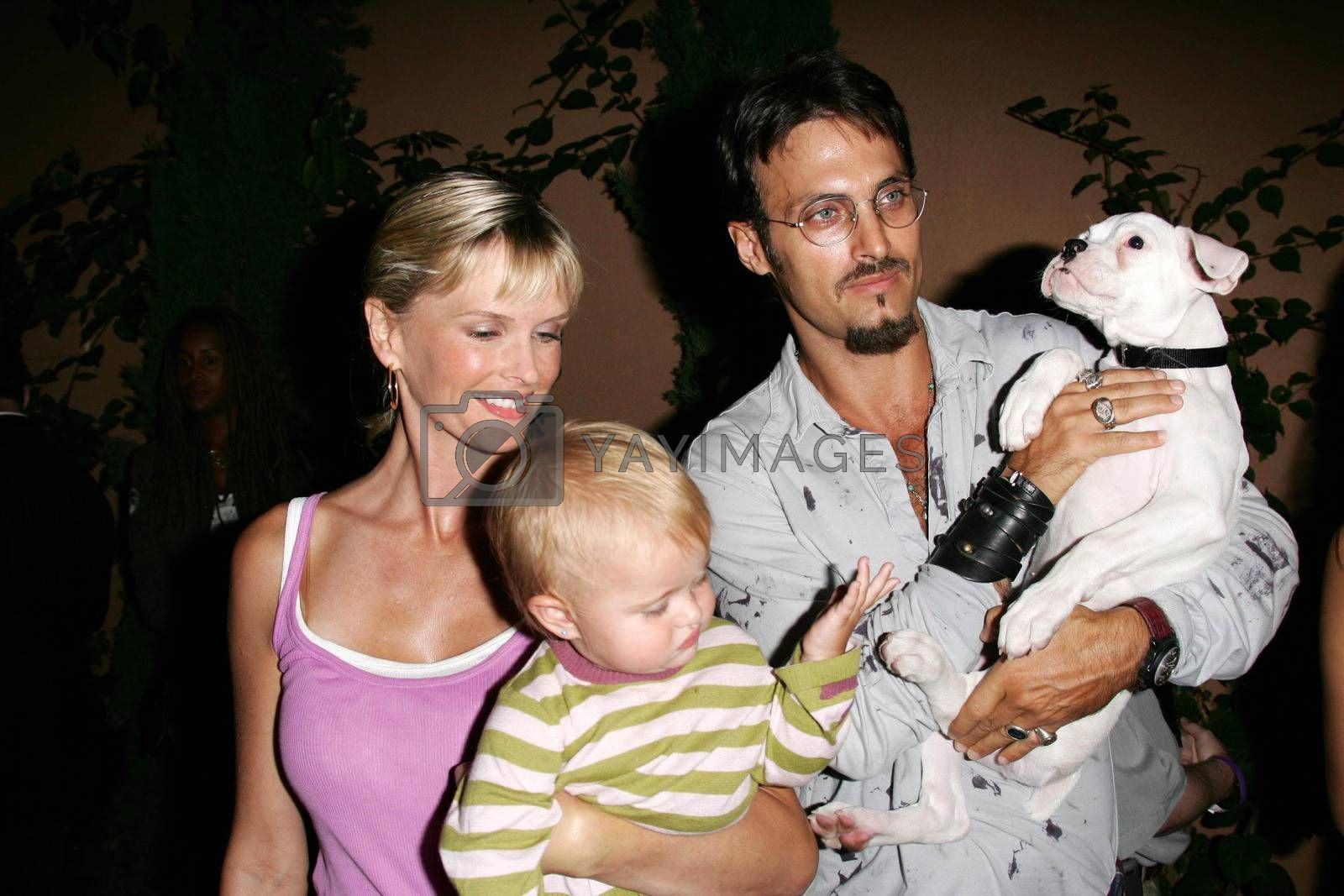 Kylie Bax with Spiros Poros and daughter at the In Touch Presents Pets And Their Stars Party, Cabana Club, Hollywood, CA 09-21-05