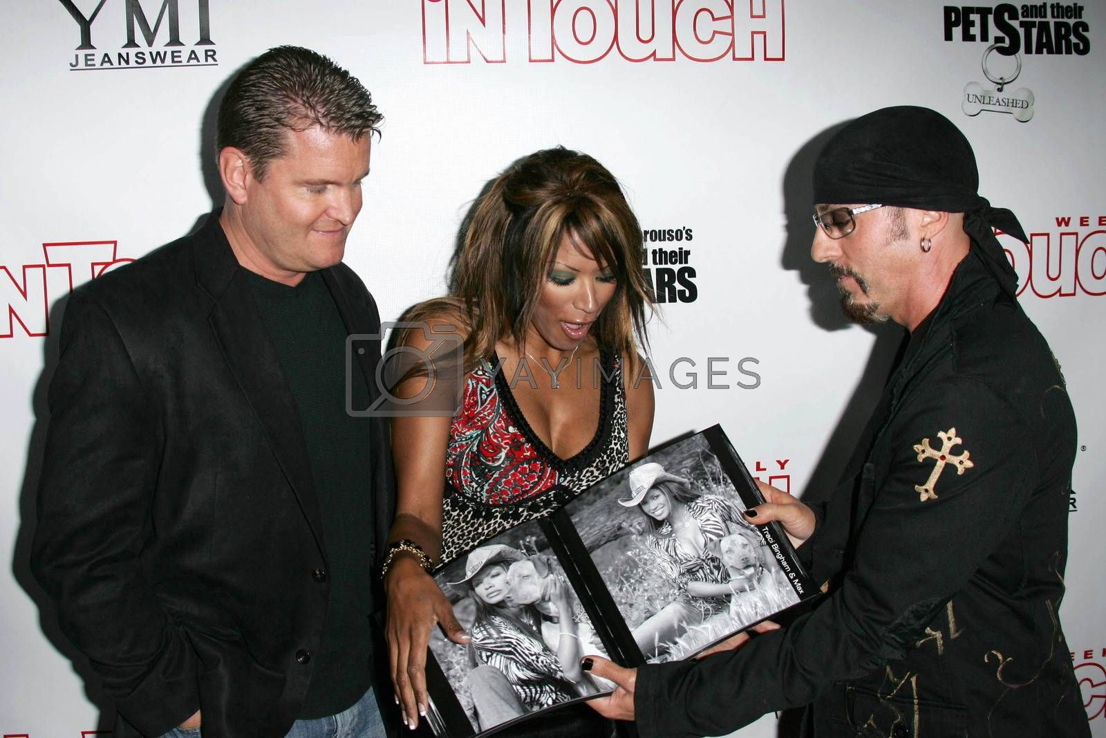 John Edward Yarbrough with Traci Bingham and Christopher Amerouso at the In Touch Presents Pets And Their Stars Party, Cabana Club, Hollywood, CA 09-21-05