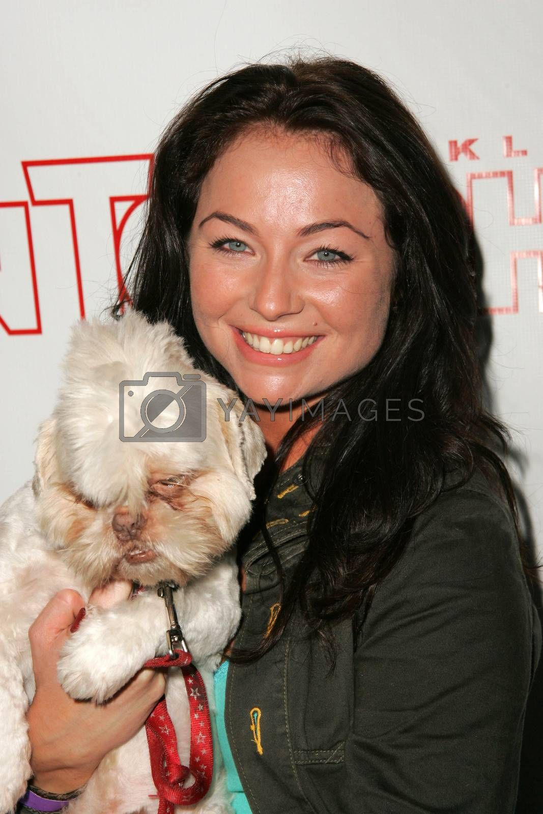 Lindsey Labrum and Sumo at the In Touch Presents Pets And Their Stars Party, Cabana Club, Hollywood, CA 09-21-05