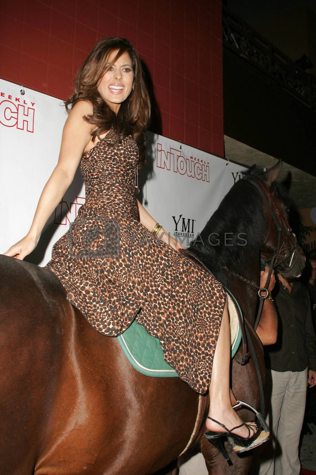 "Kerri Kasem arrives on her horse ""Playboy"" at the In Touch Presents Pets And Their Stars Party, Cabana Club, Hollywood, CA 09-21-05"