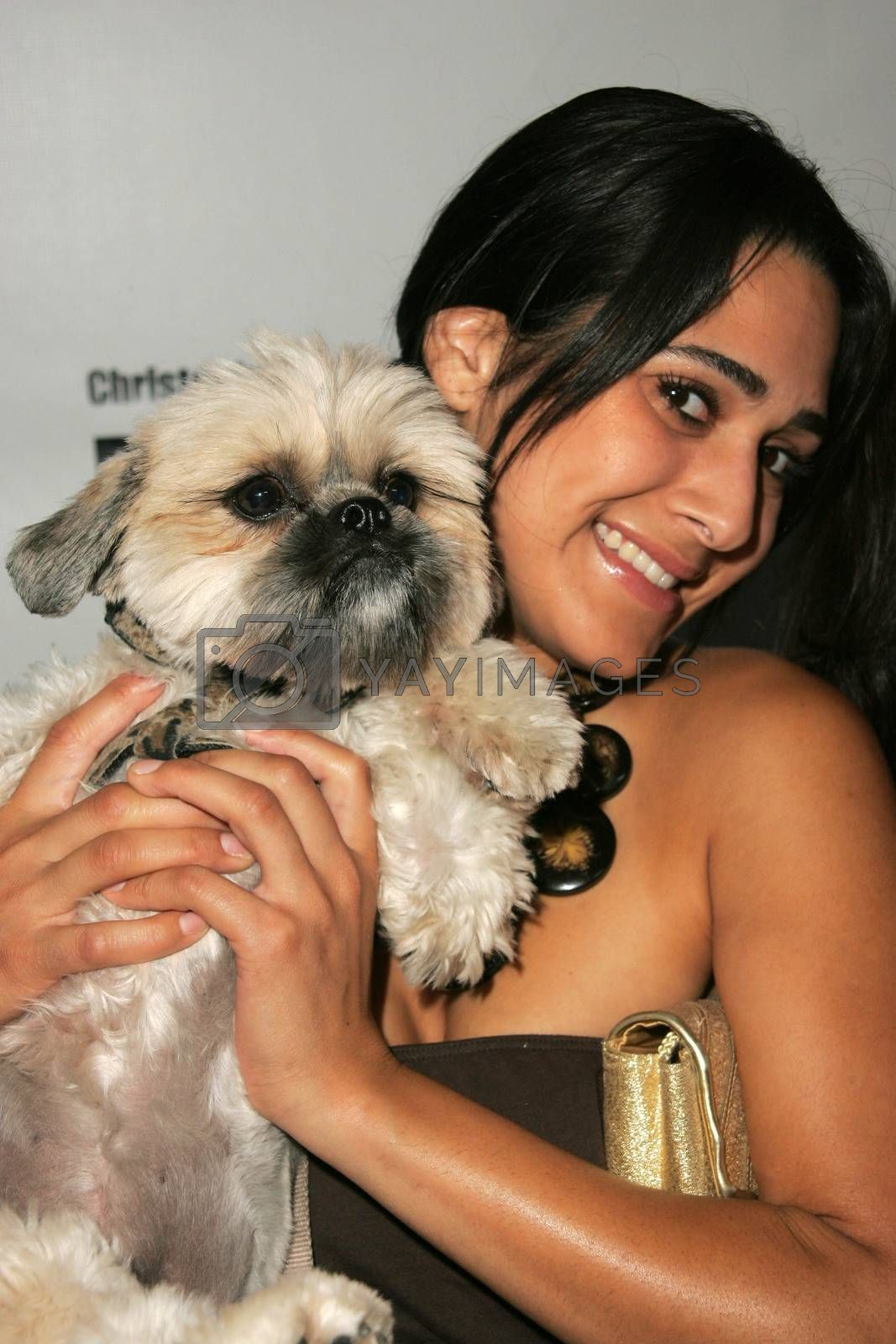 Sasa Jalali and Coco at the In Touch Presents Pets And Their Stars Party, Cabana Club, Hollywood, CA 09-21-05