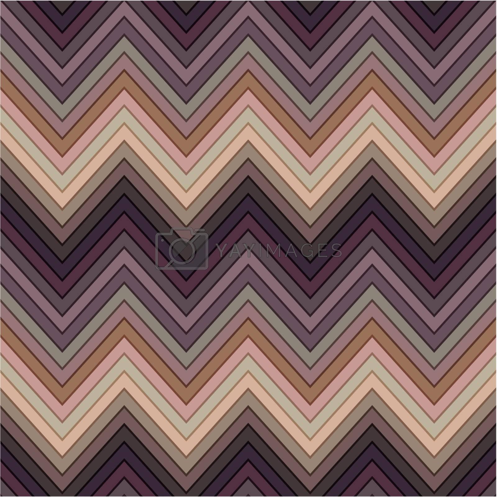seamless multicolor horizontal fashion chevron pattern