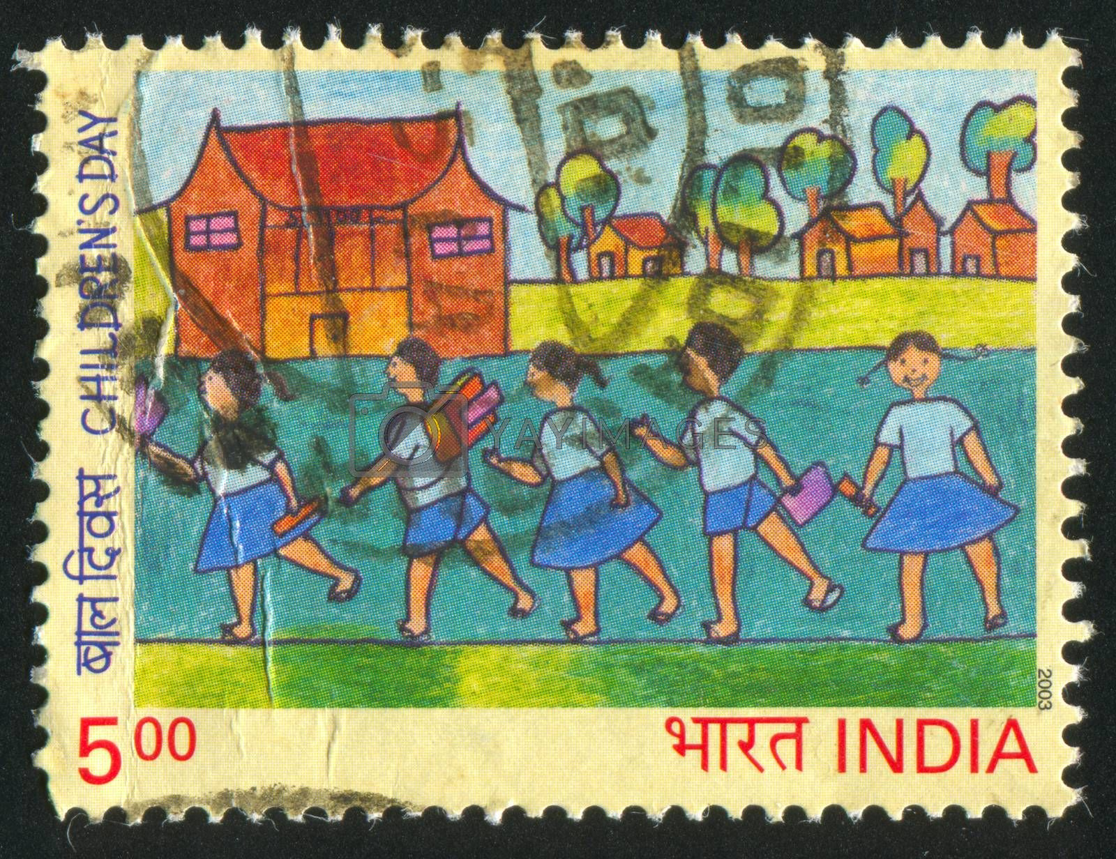 INDIA - CIRCA 2003: stamp printed by India, shows Children picture, circa 2003