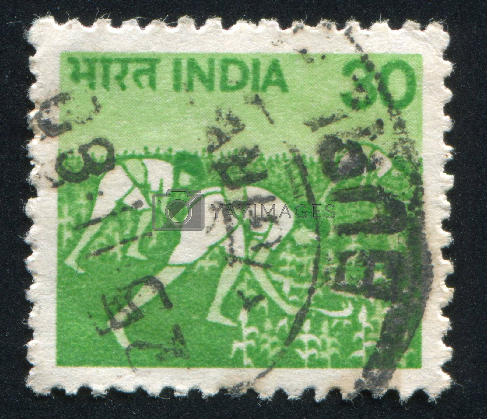 INDIA - CIRCA 1979: stamp printed by India, shows Women in Rice Field, circa 1979