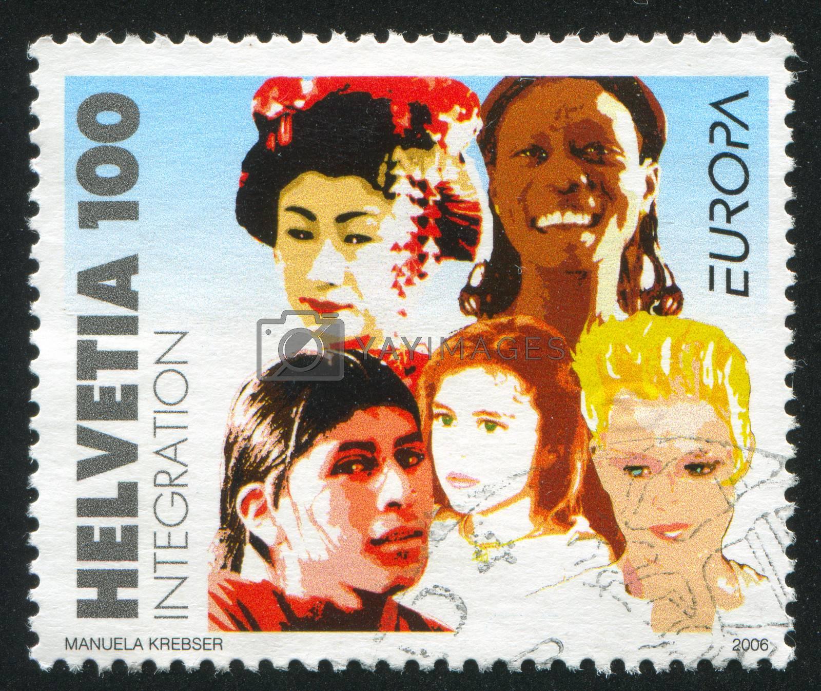 SWITZERLAND - CIRCA 2006: stamp printed by Switzerland, shows People, circa 2006