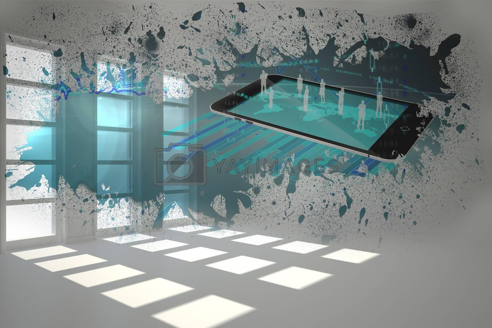 Splash showing global communication