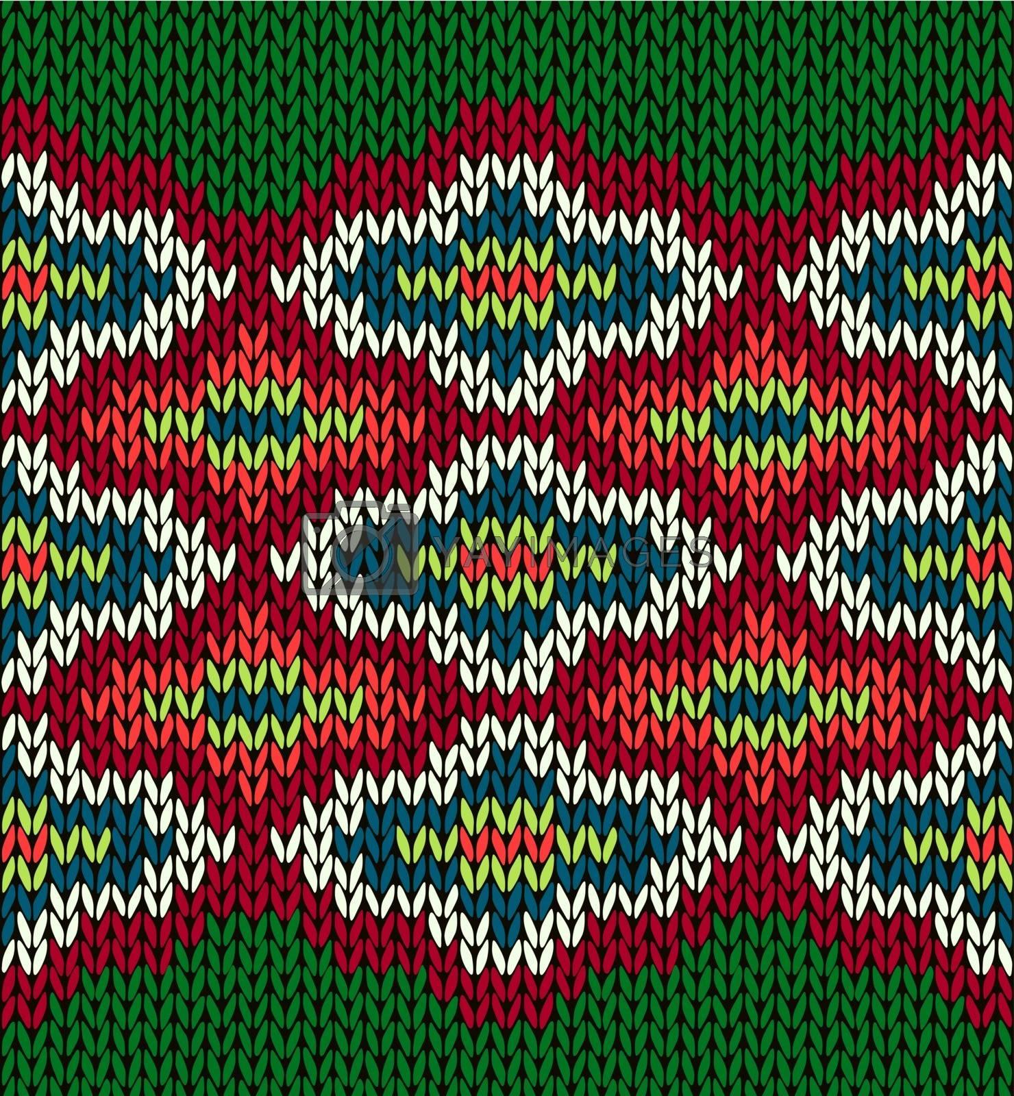 Knit Seamless Jacquard Ornament Pattern by ESSL