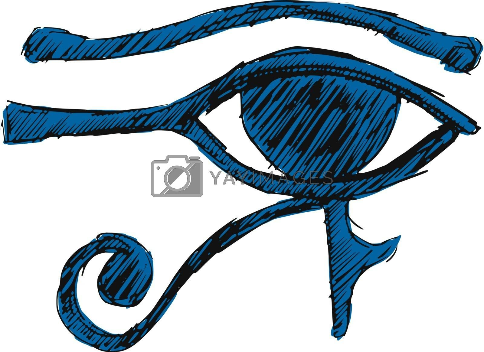 Royalty free image of Eye of Ra by Perysty
