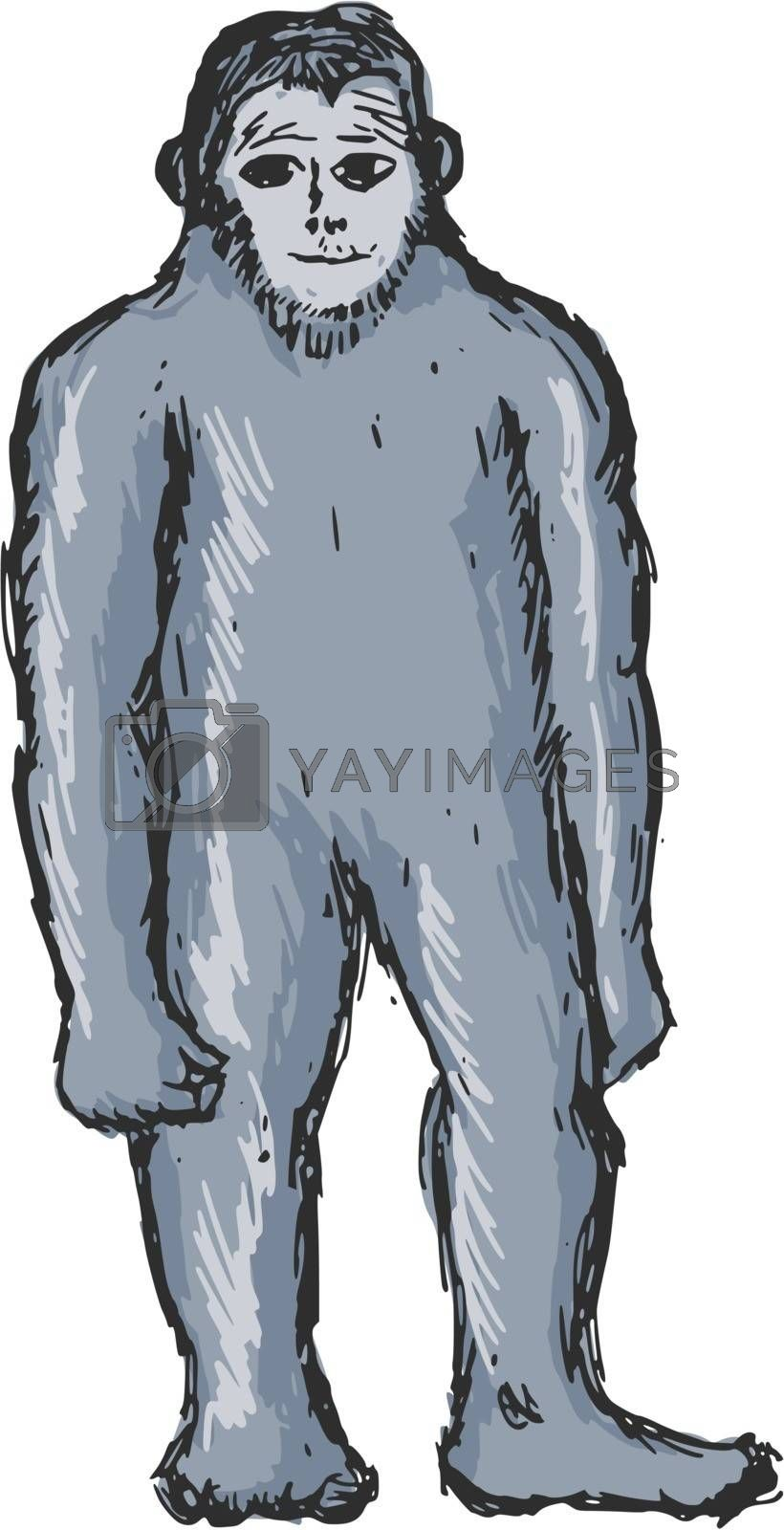 Royalty free image of bigfoot by Perysty