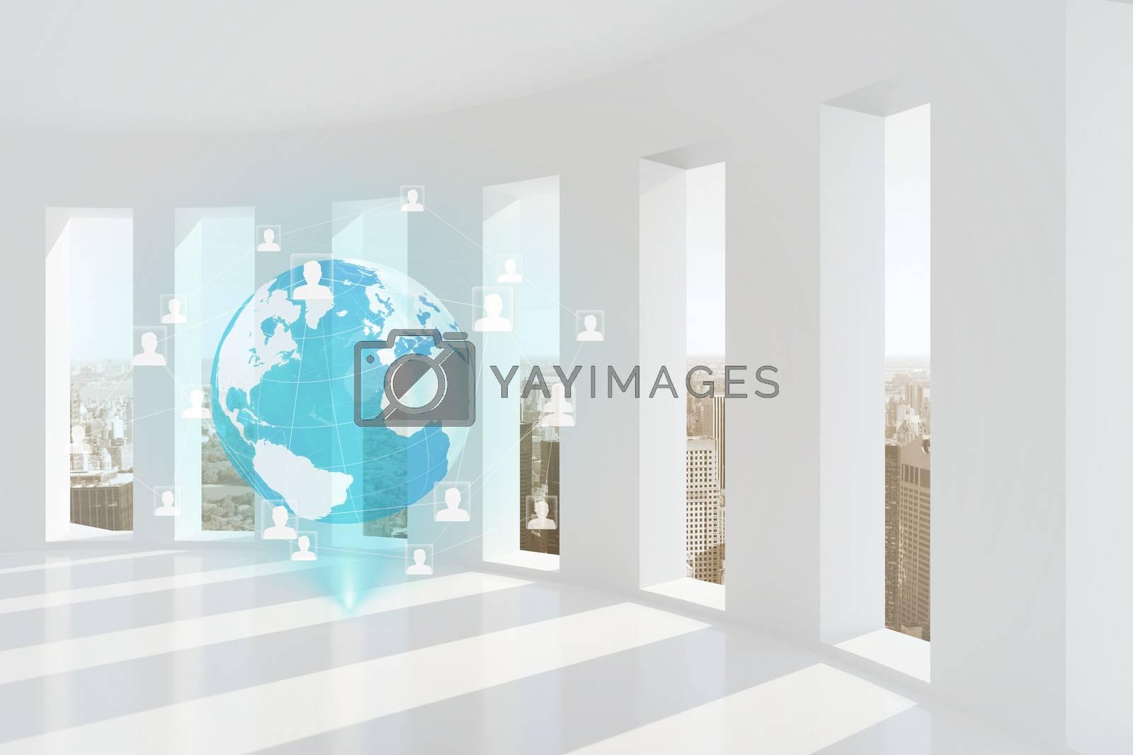 Global business hologram by Wavebreakmedia