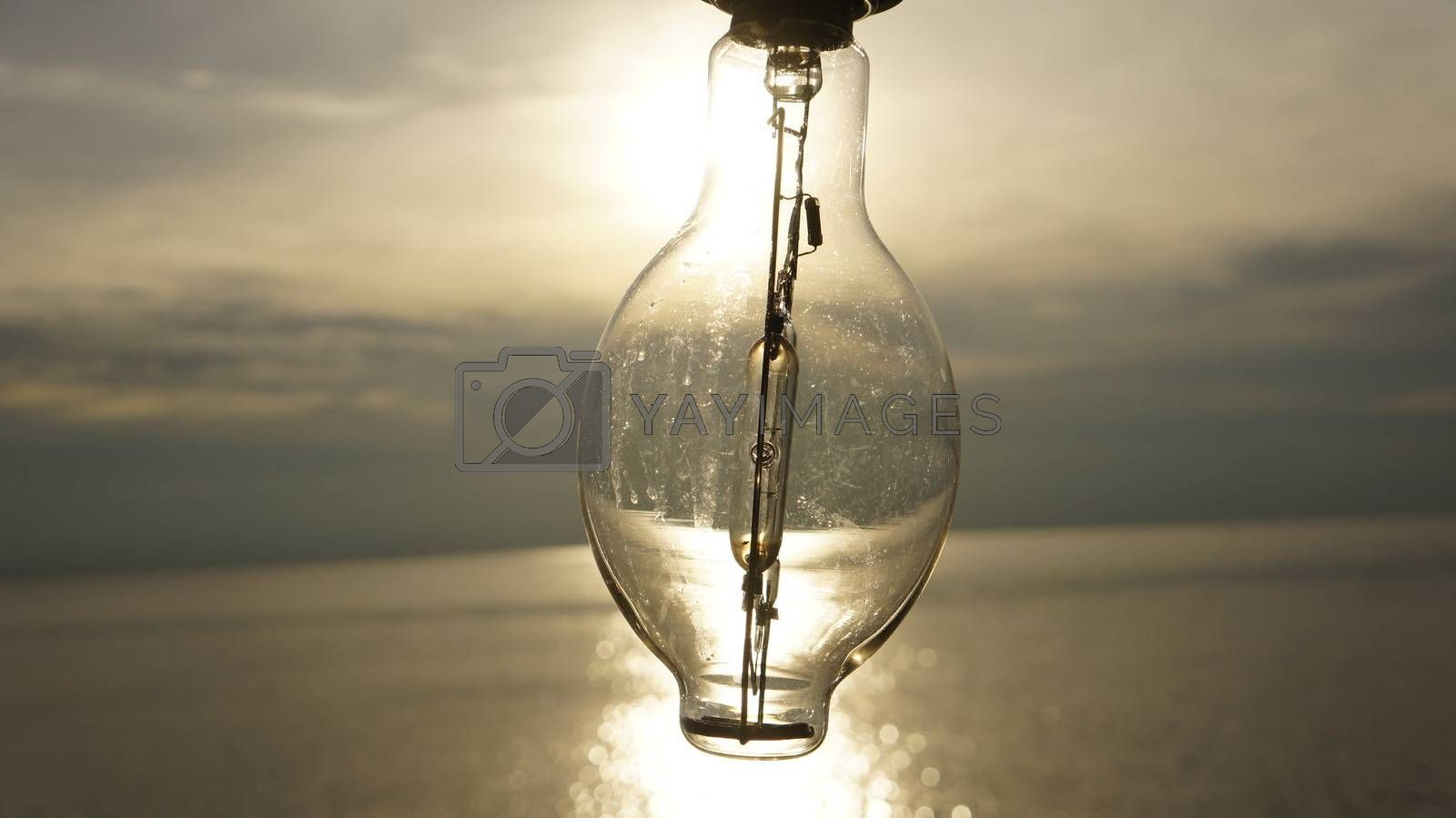 sun light from a light bulb