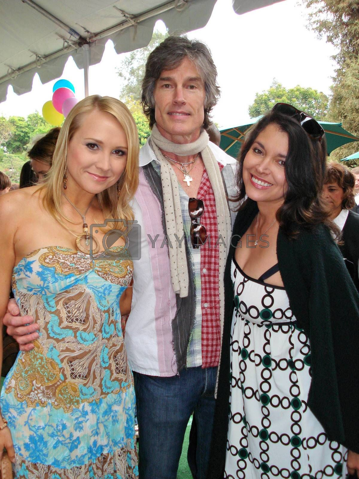 Alana Curry with Ronn Moss and Devin DeVasquez at the Playboy Mansion Easter Egg Hunt. Playboy Mansion, Los Angeles, CA. 04-07-07