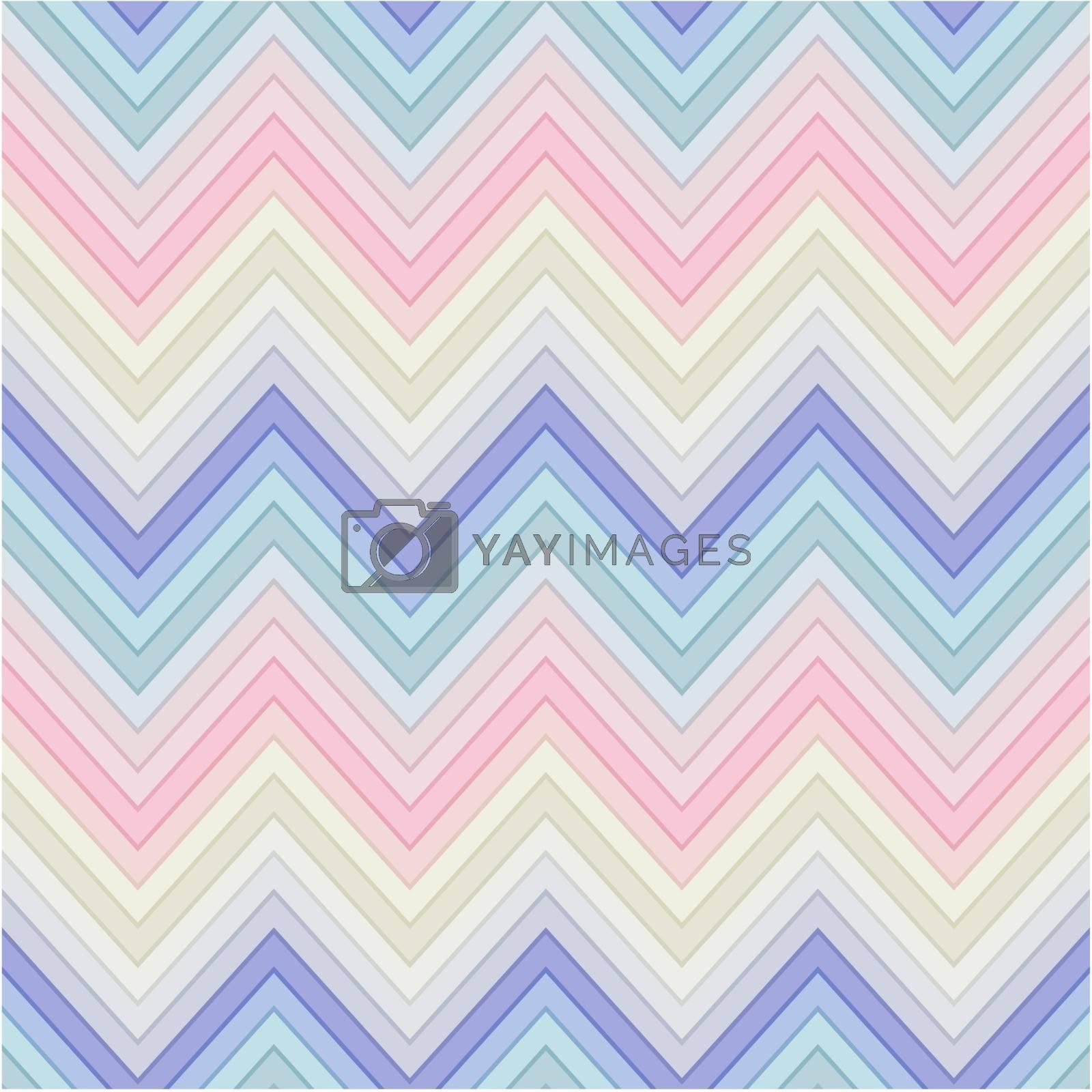 seamless pastel multicolor horizontal fashion chevron pattern