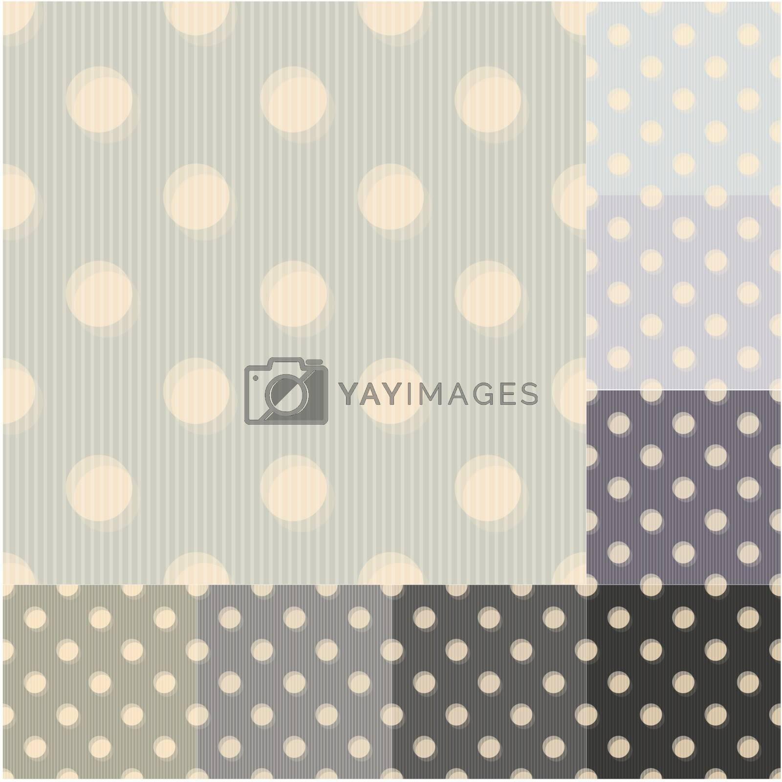 seamless grey black polka dots striped pattern by pauljune