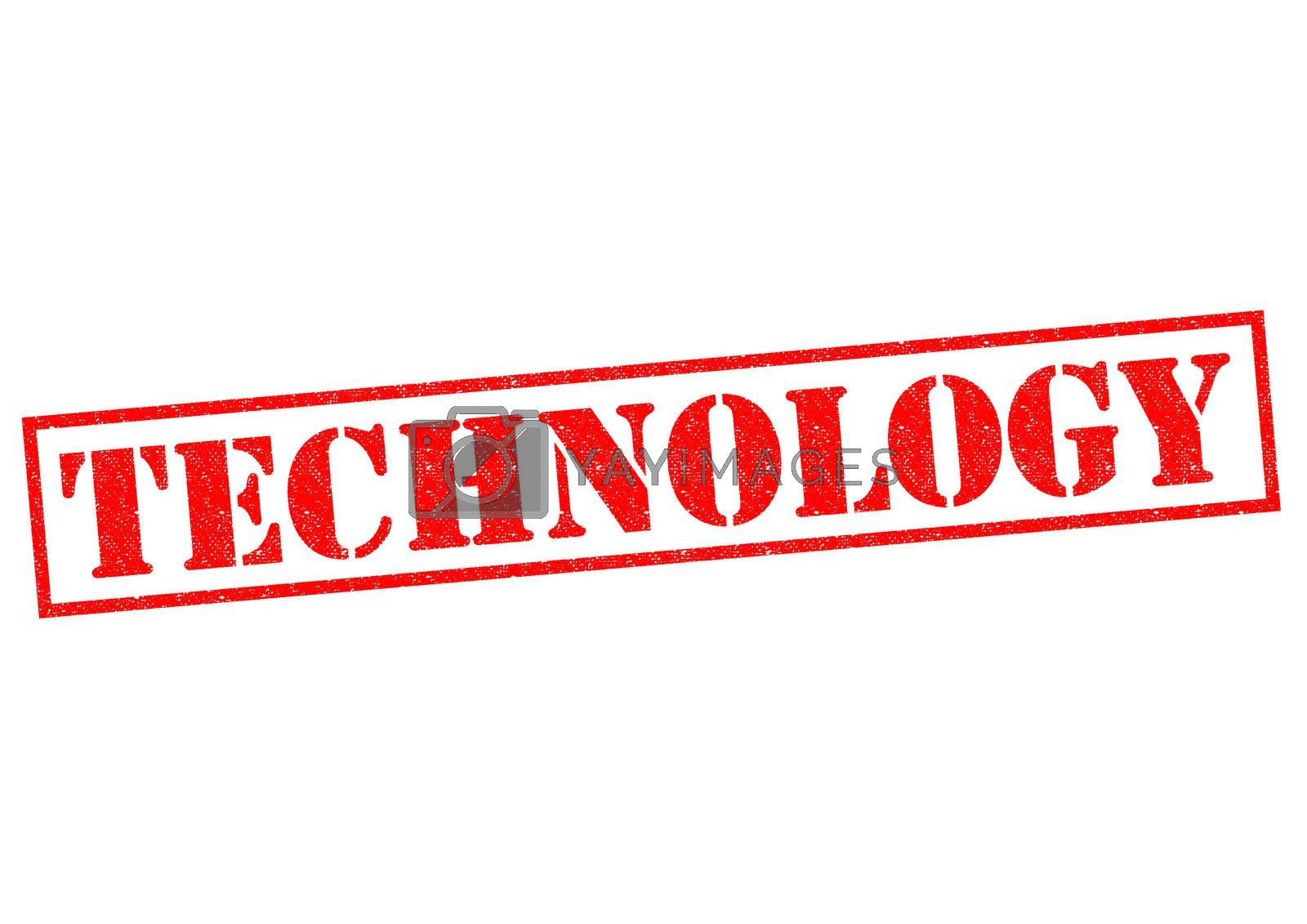 TECHNOLOGY red Rubber Stamp over a white background.