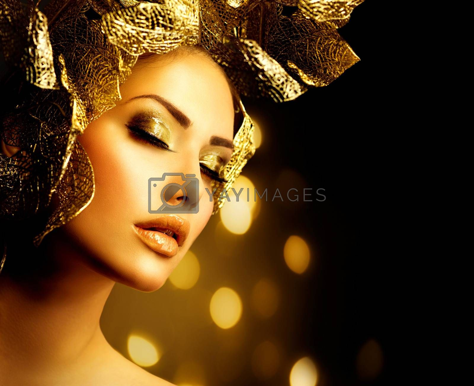 Fashion Glamour Makeup. Holiday Gold Make-up by SubbotinaA