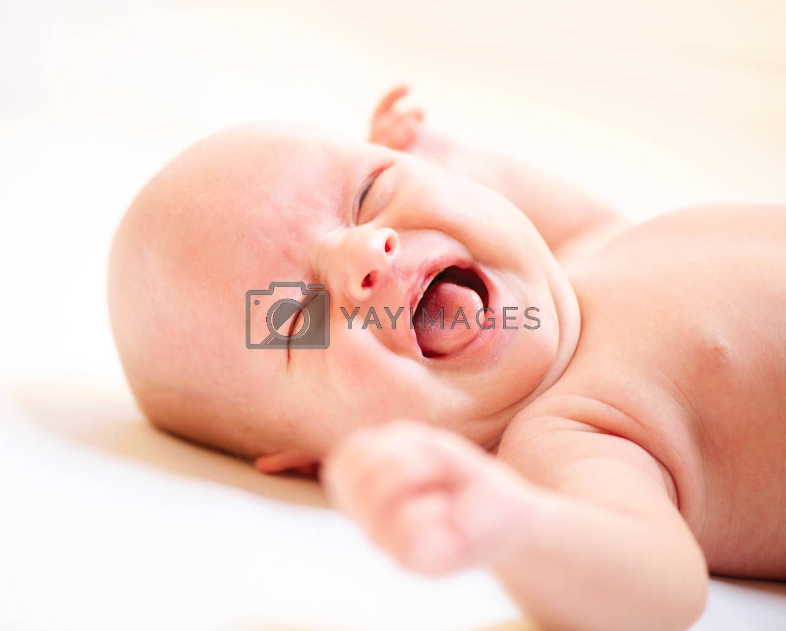 Crying Newborn Baby. Baby Boy Cry by Subbotina Anna