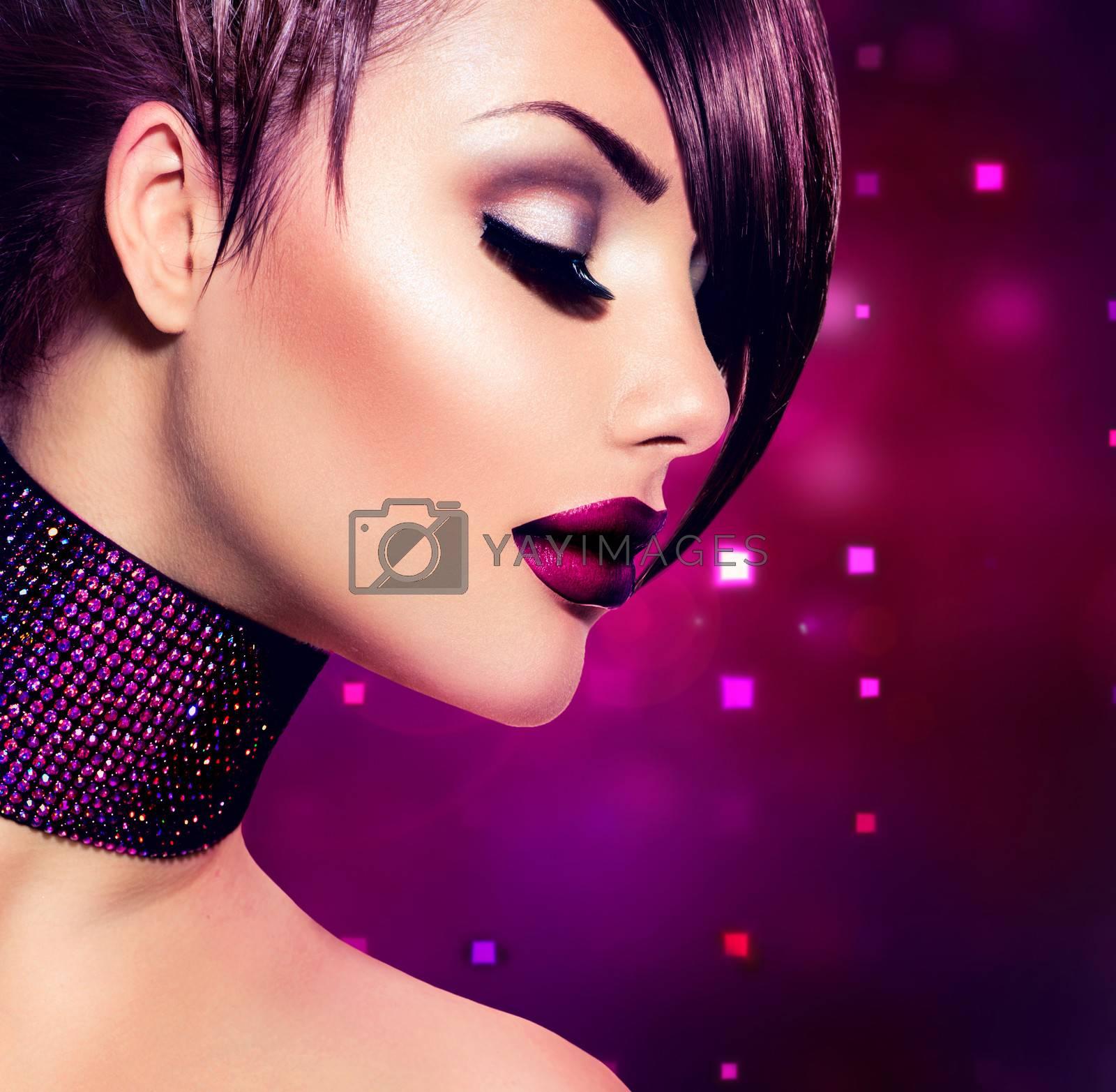 Holiday Woman Make up. Fashion Beauty Fashion Girl