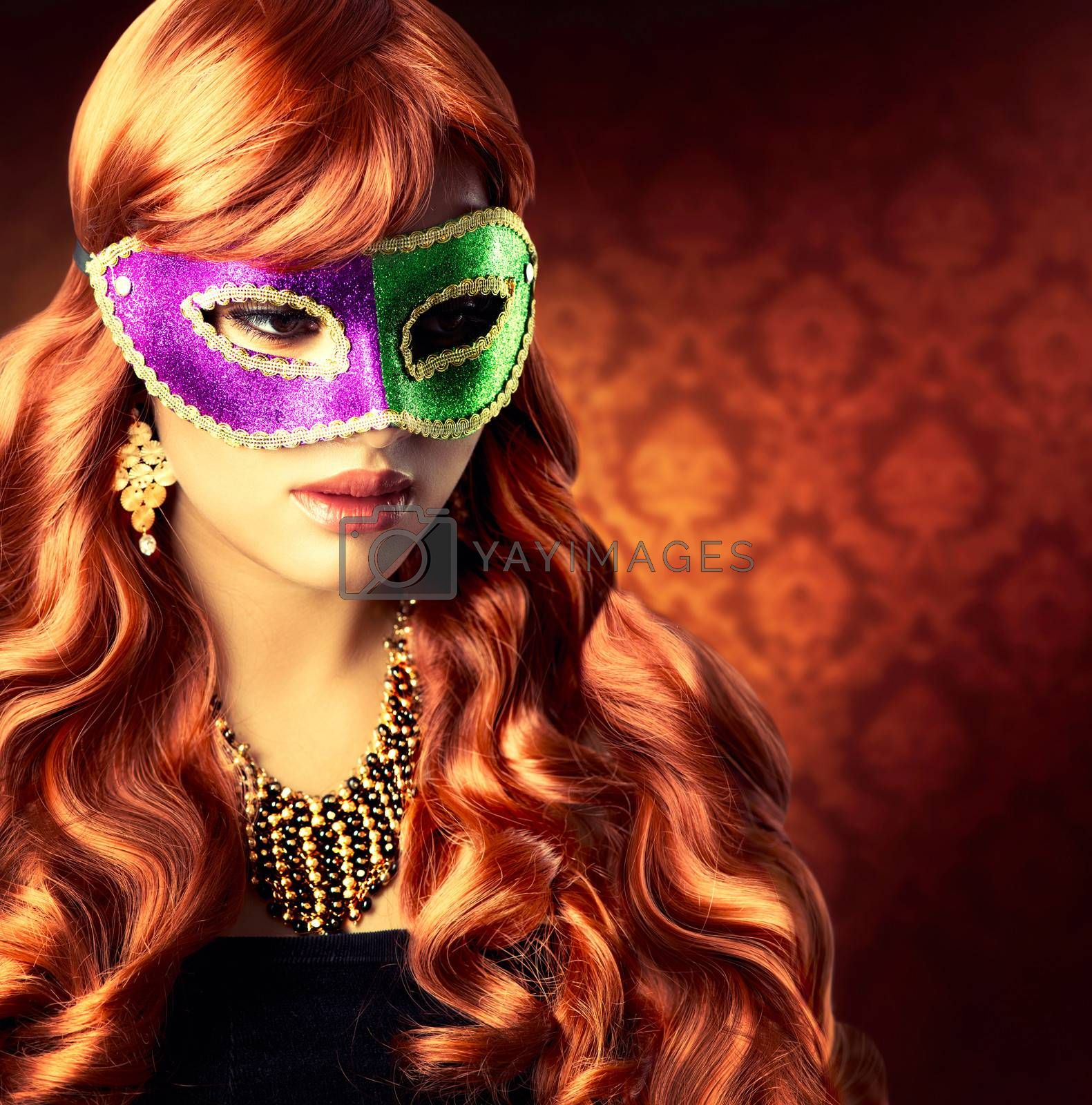 Beautiful Girl in a Carnival mask by SubbotinaA