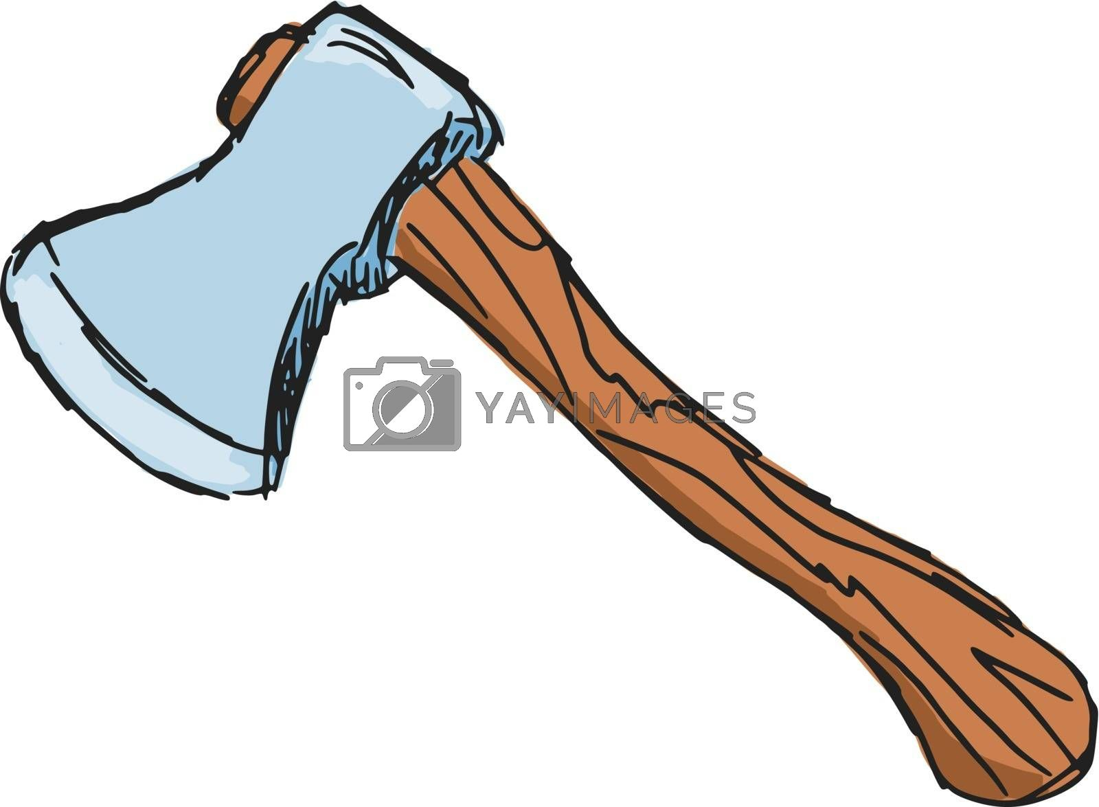 Royalty free image of an axe by Perysty