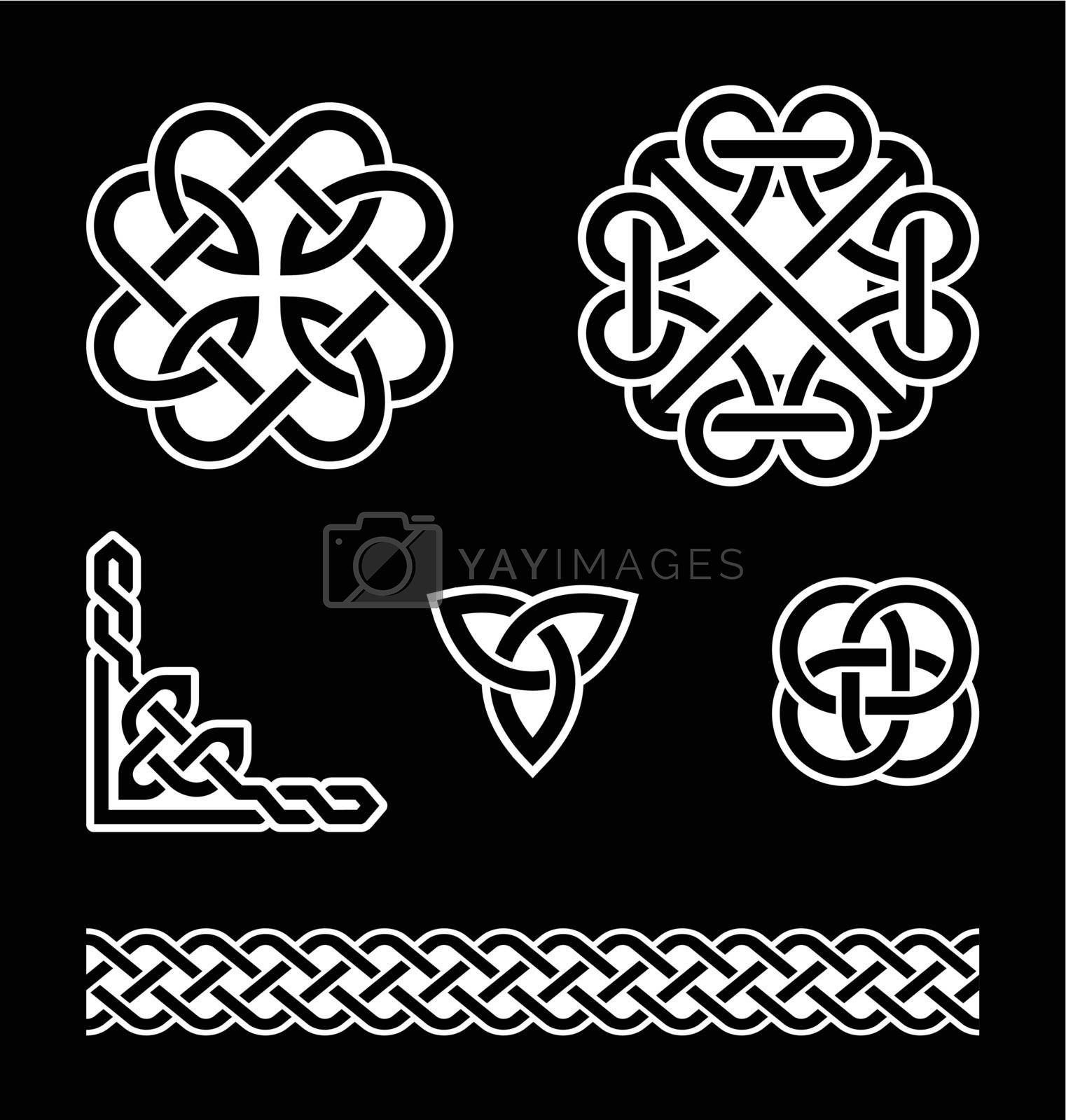 Celtic Knots Patterns In White On Black Background Royalty Free Stock Image Stock Photos Royalty Free Images Vectors Footage Yayimages