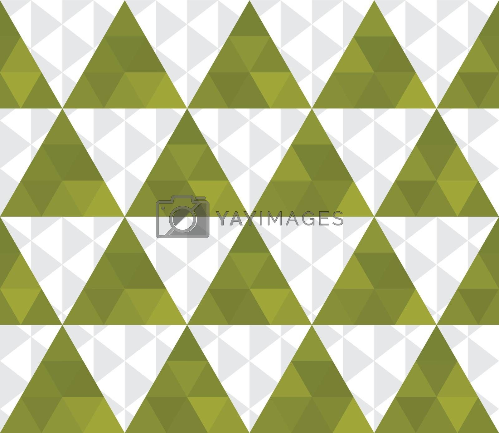 Abstract seamless texture of green and white triangles