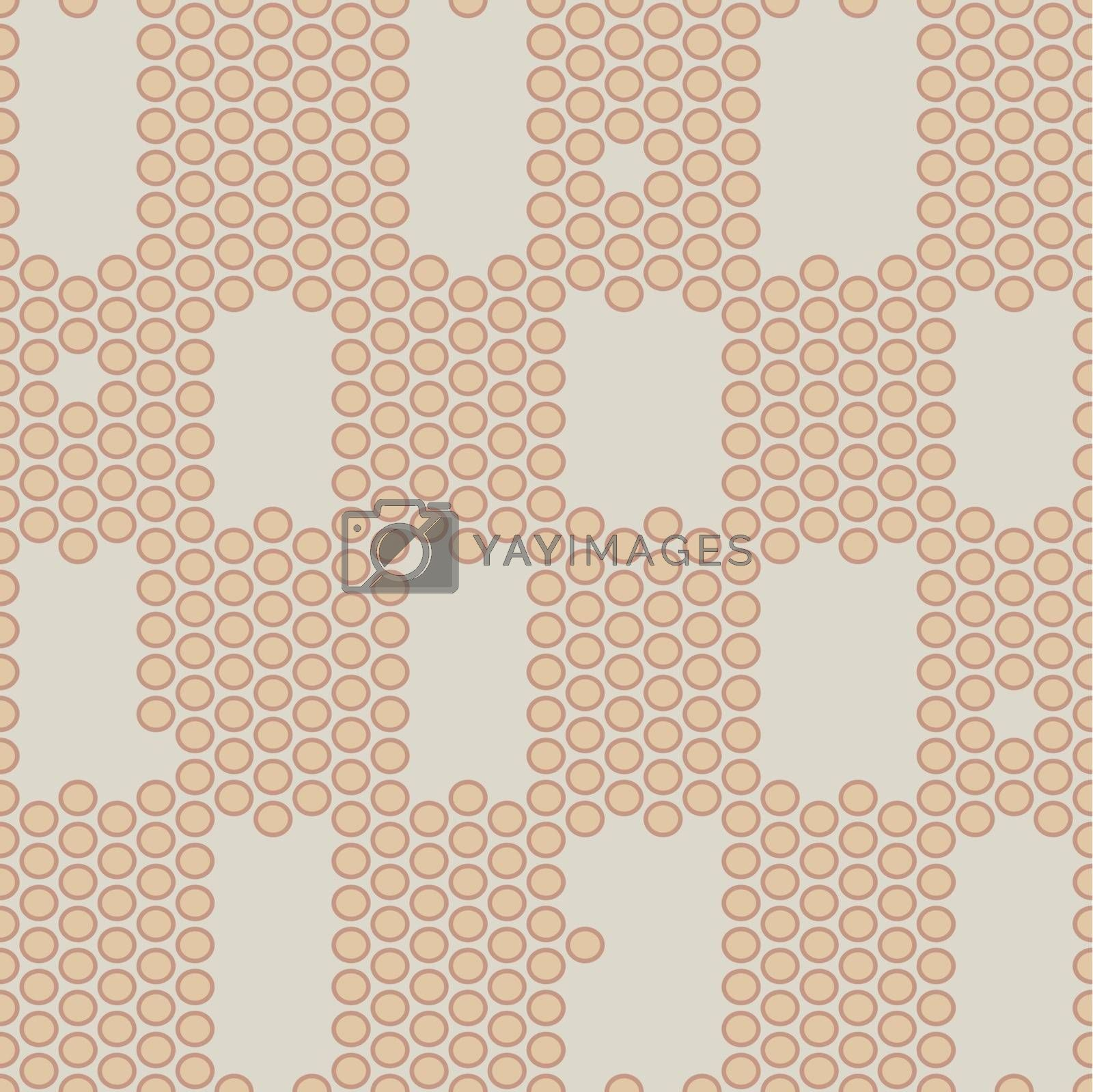 seamless texture of the circles  pastel color   mosaic effect