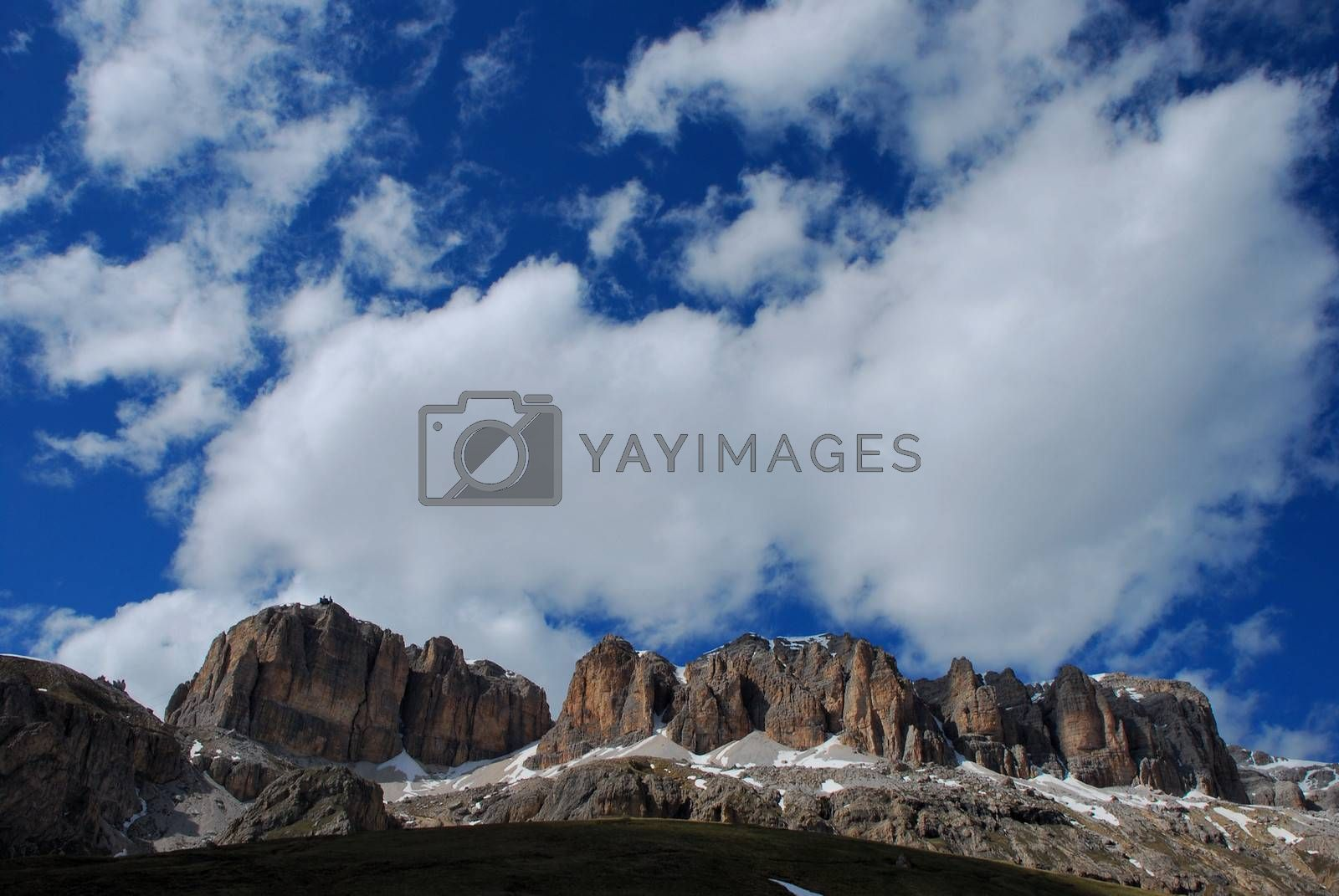 beautiful landscape with rocky mountains and blue sky
