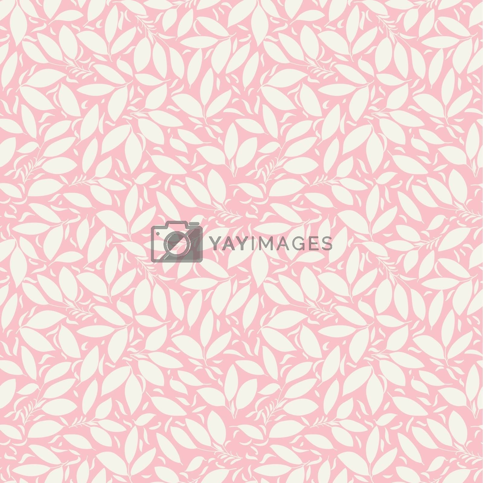 pink texture with berries and flowers silhouettes. Use as a fill pattern, backdrop, seamless texture