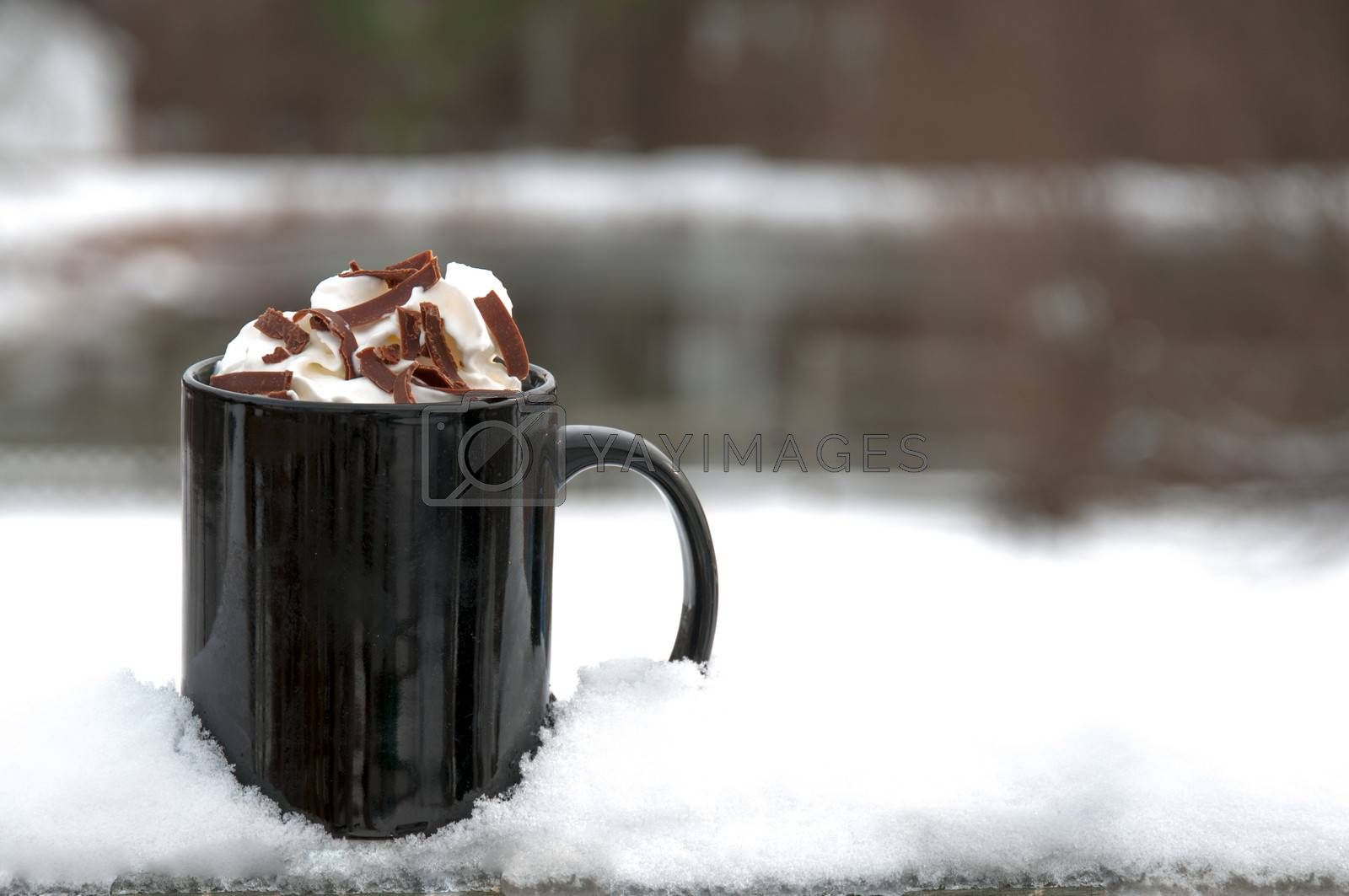 Hot Chocolate or Coffee on a winter snow day