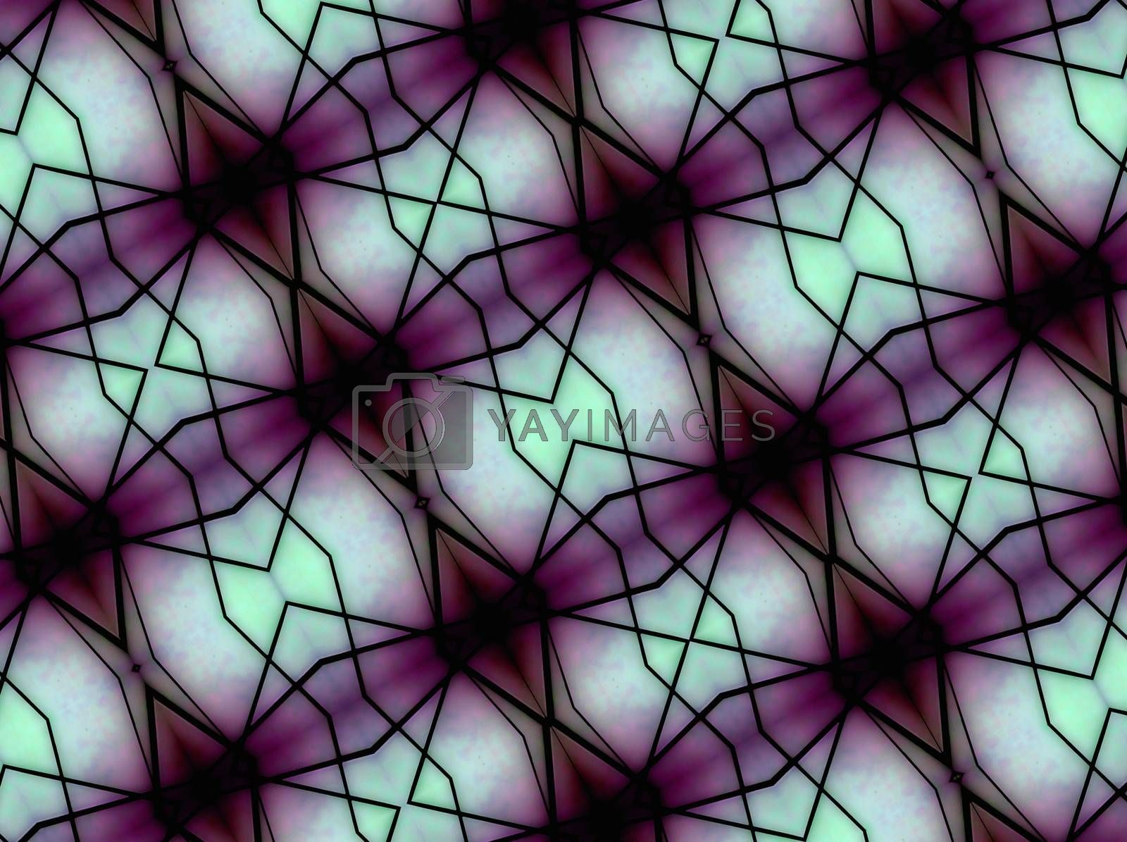 Geometric space background in magenta and pale blue tones also useful as pattern.