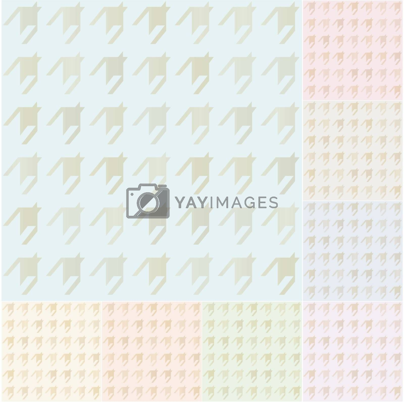 seamless houndstooth pattern with gold gradient