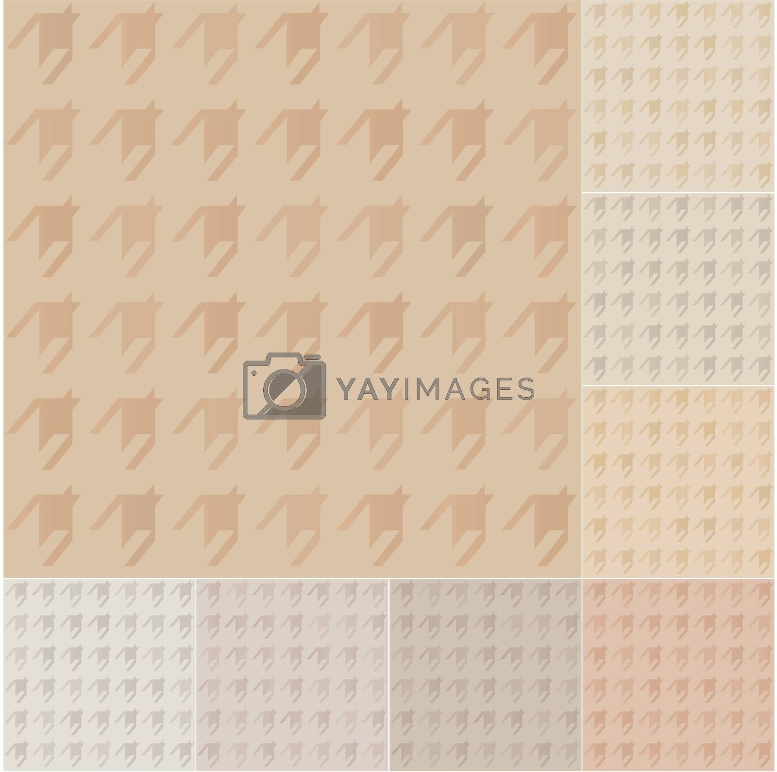 seamless houndstooth pattern on recycled paper, cardboard with pastel gradient
