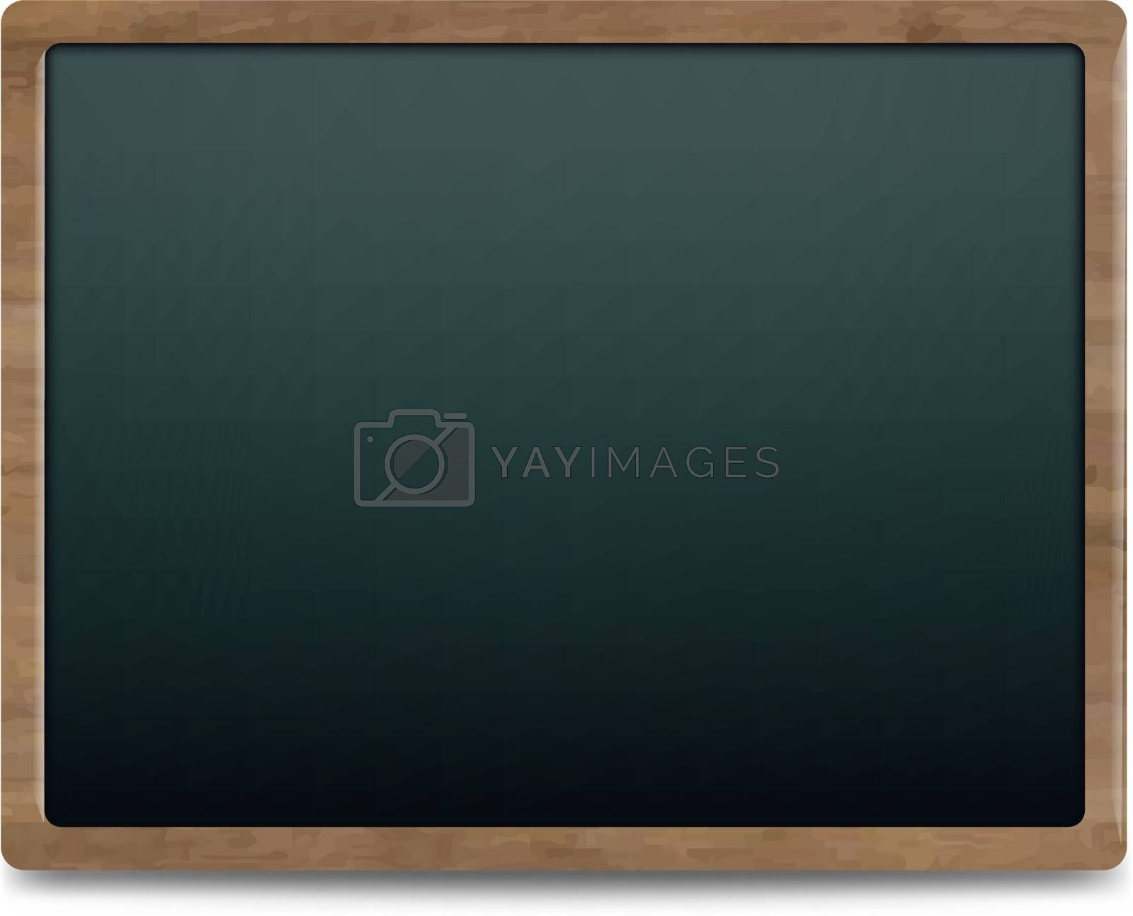 Black Chalk Board, Isolated On White Background, Vector Illustration